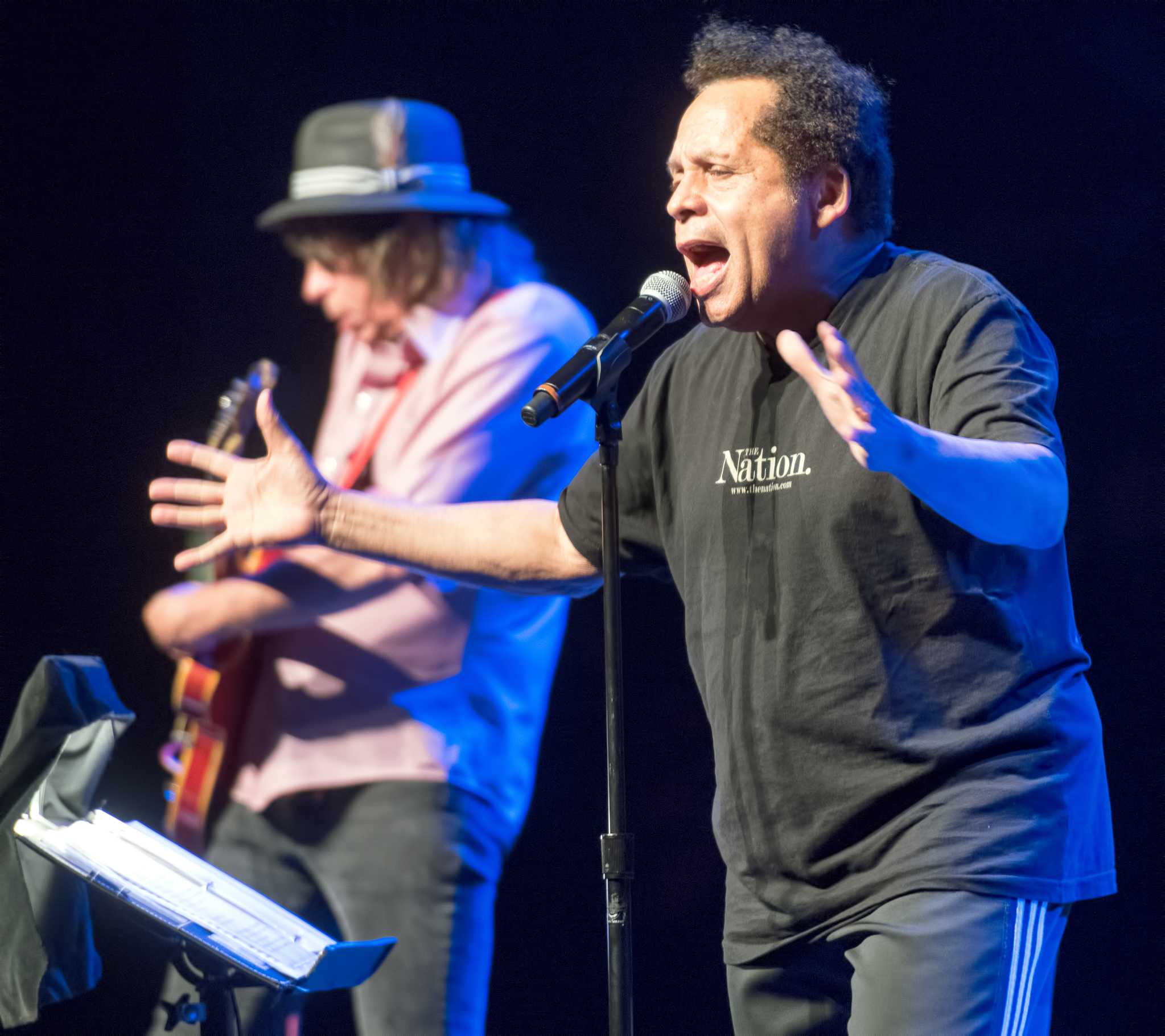 Garland Jeffreys and Mark Bosch at the Montreal International Jazz Festival 2015