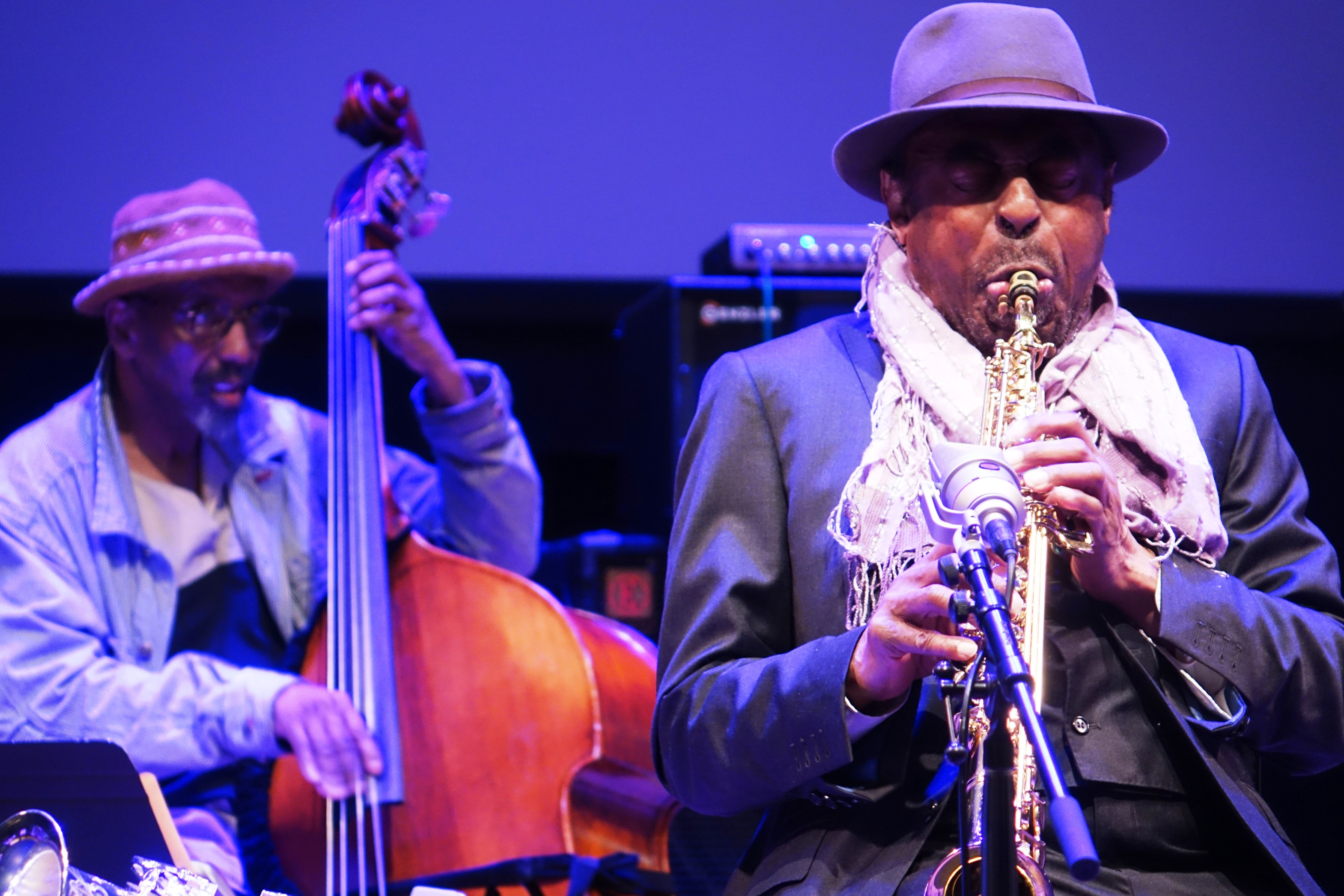 William Parker and Archie Shepp at Roulette, Brooklyn in May 2018