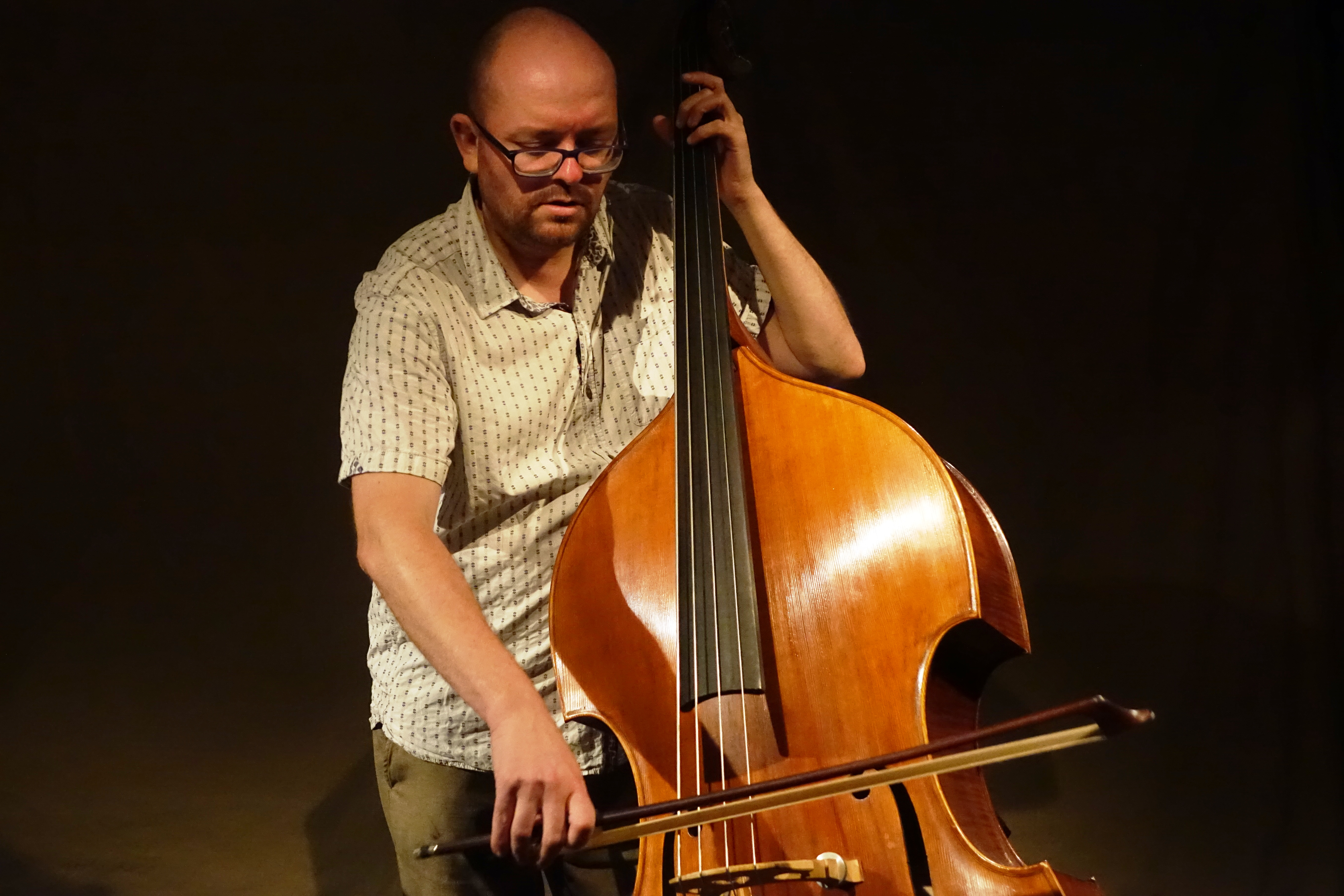 Olie Brice at Cafe Oto, London in July 2019
