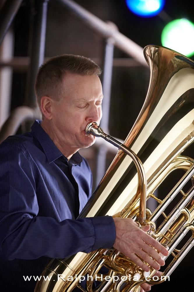 Ralph Hepola with Tuba