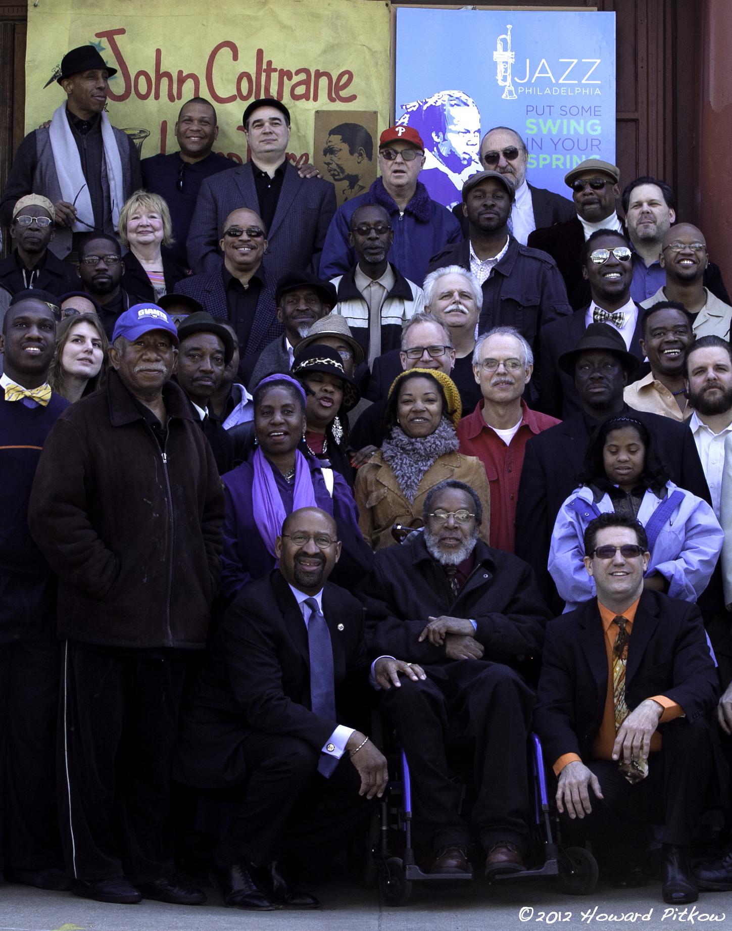 2012 Musician Photo Shoot at the John Coltrane Home.