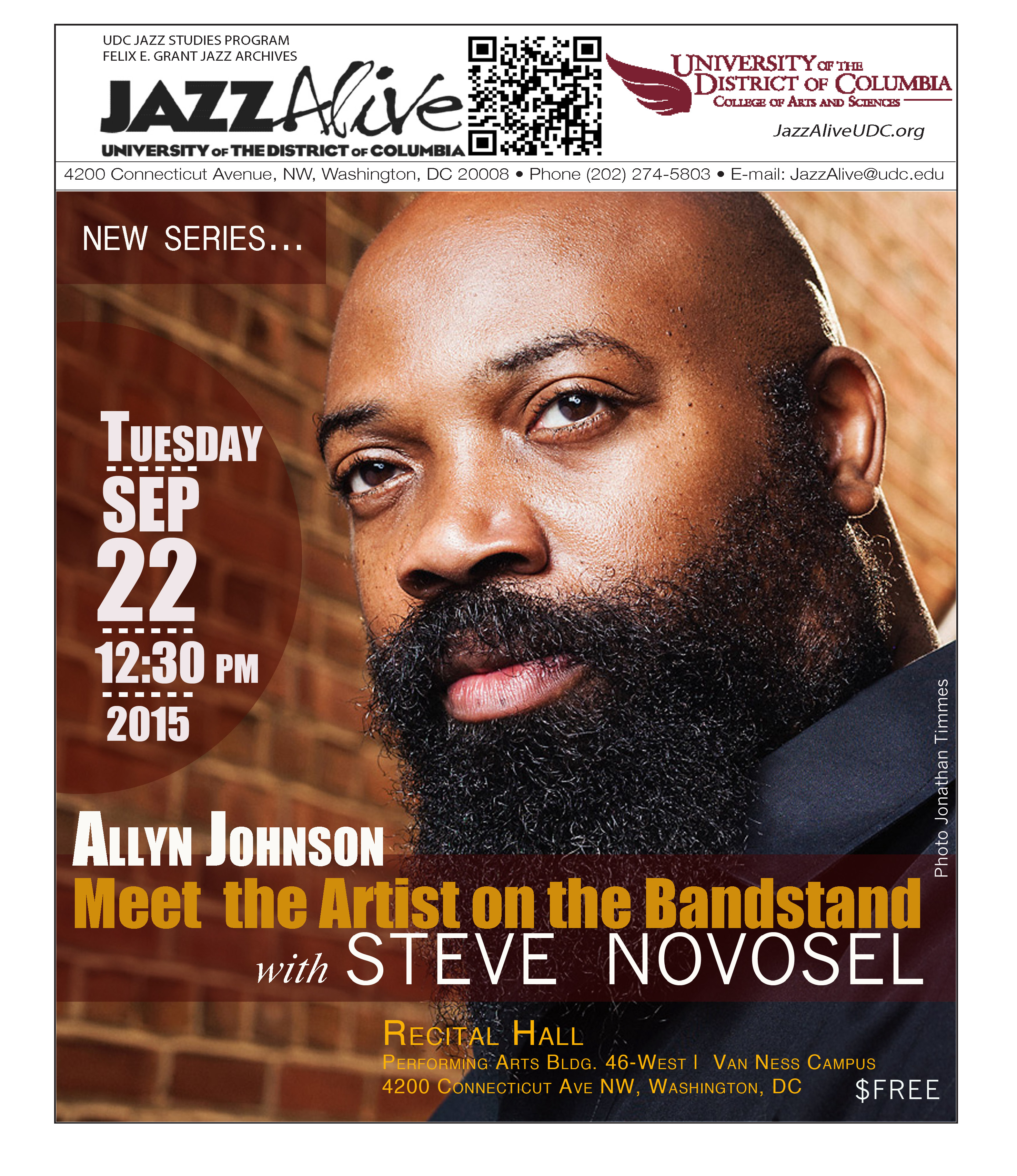 Allyn Johnson & Meet the Artist on the Bandstand--STEVE NOVOSEL