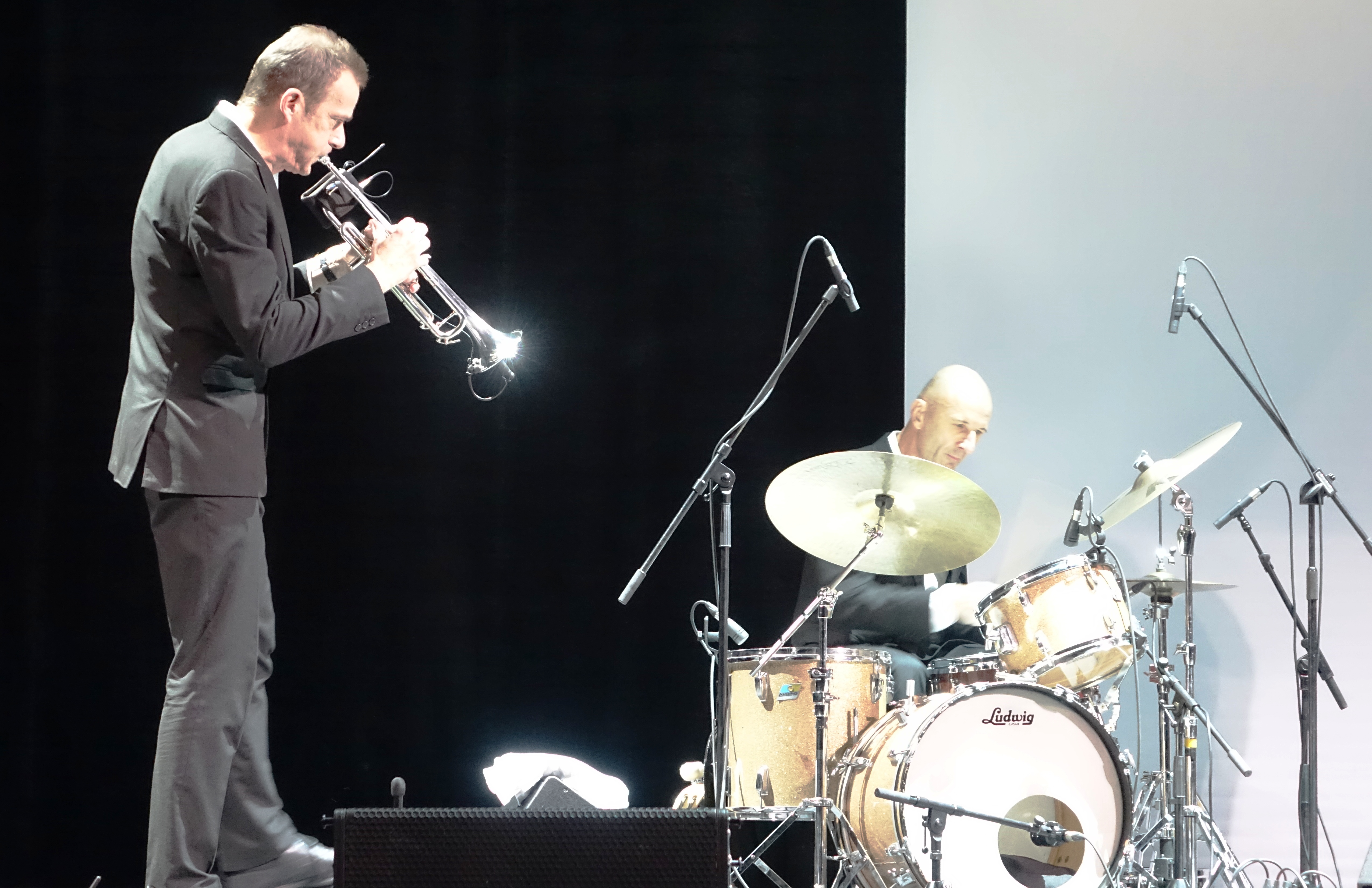 Pete Judge and Clive Deamer at the Vilnius Mama Jazz Festival in November 2017