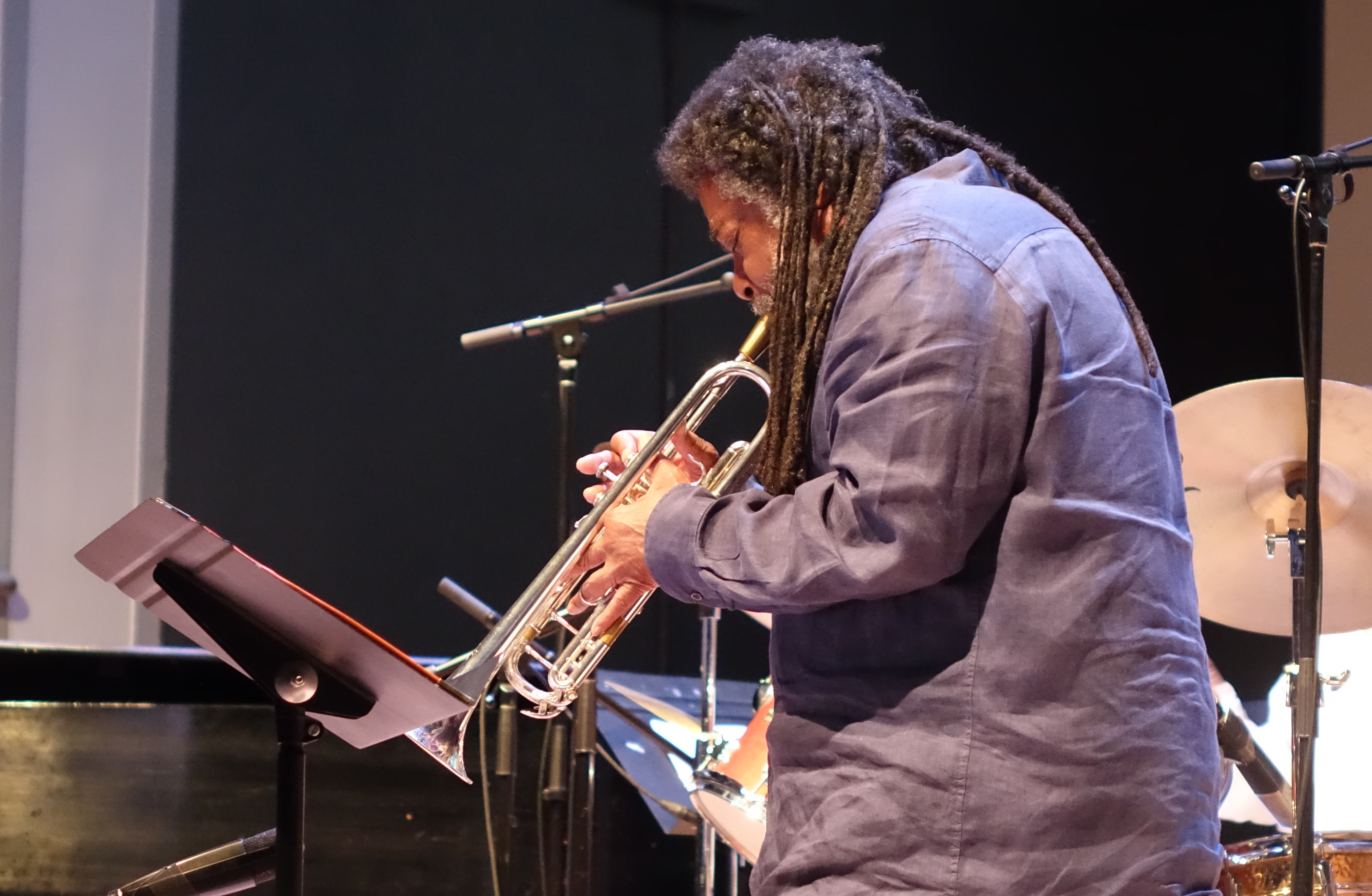 Wadada Leo Smith at the Vision Festival in Roulette, Brooklyn in June 2019