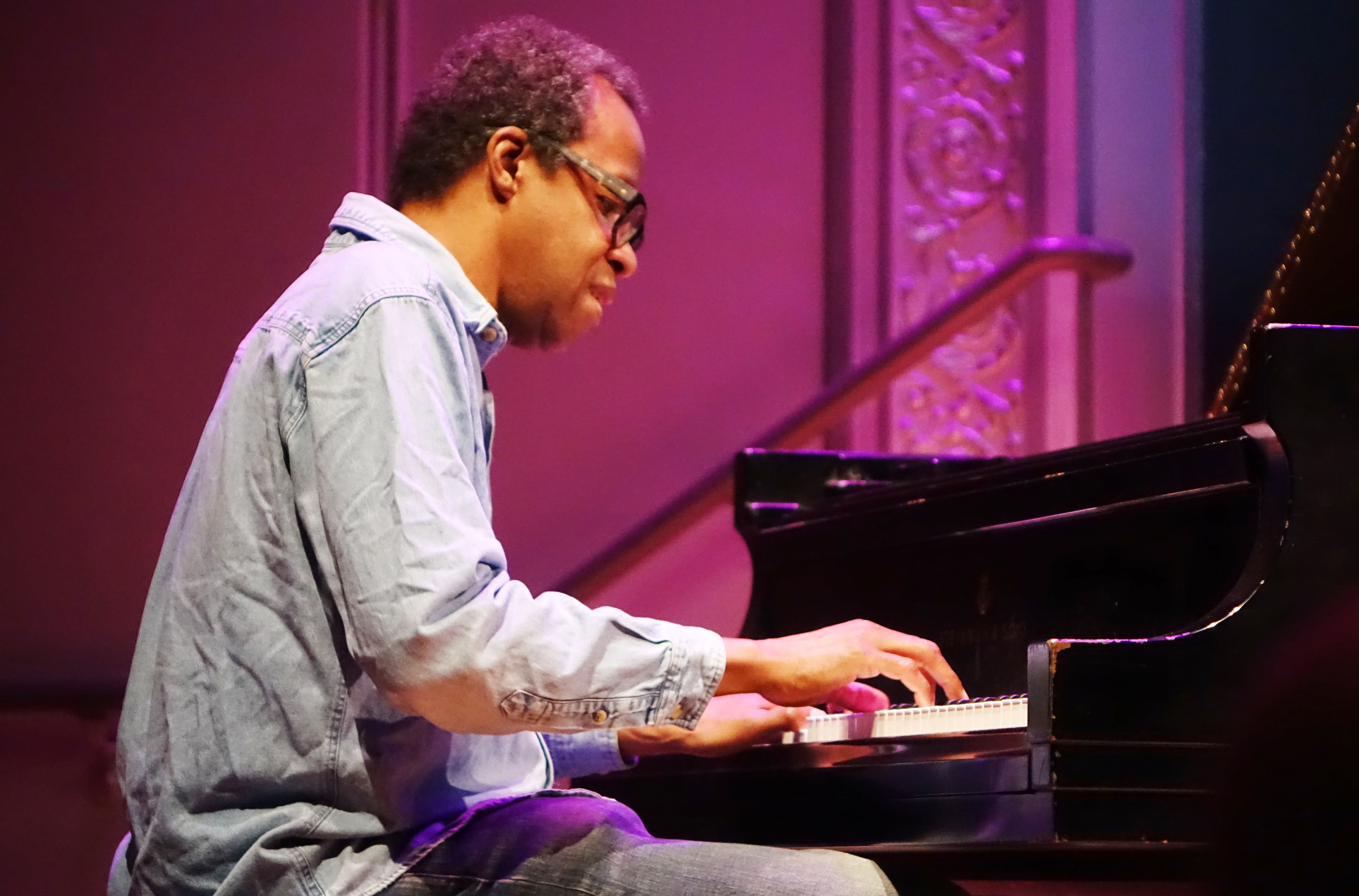 Matthew Shipp at the Vision Festival at Roulette, Brooklyn in May 2018