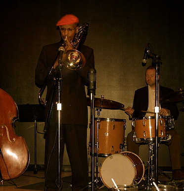 Julian Priester Trio with Jimmy Bennington, Drums Live at Fred Anderson's Velvet Lounge, Chicago, 2007.