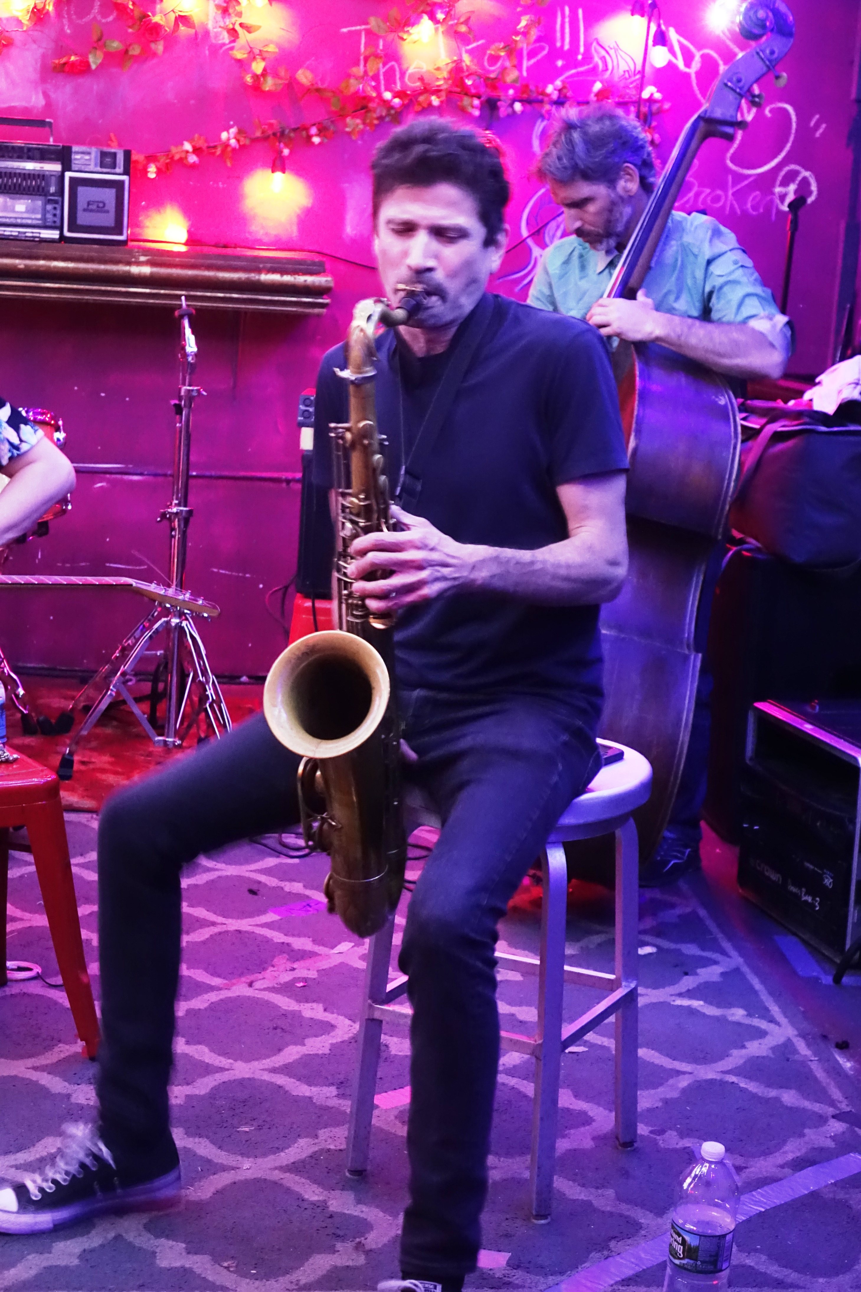 Stephen Gauci and Adam Lane at the Bushwick Public House, Brooklyn in May 2018