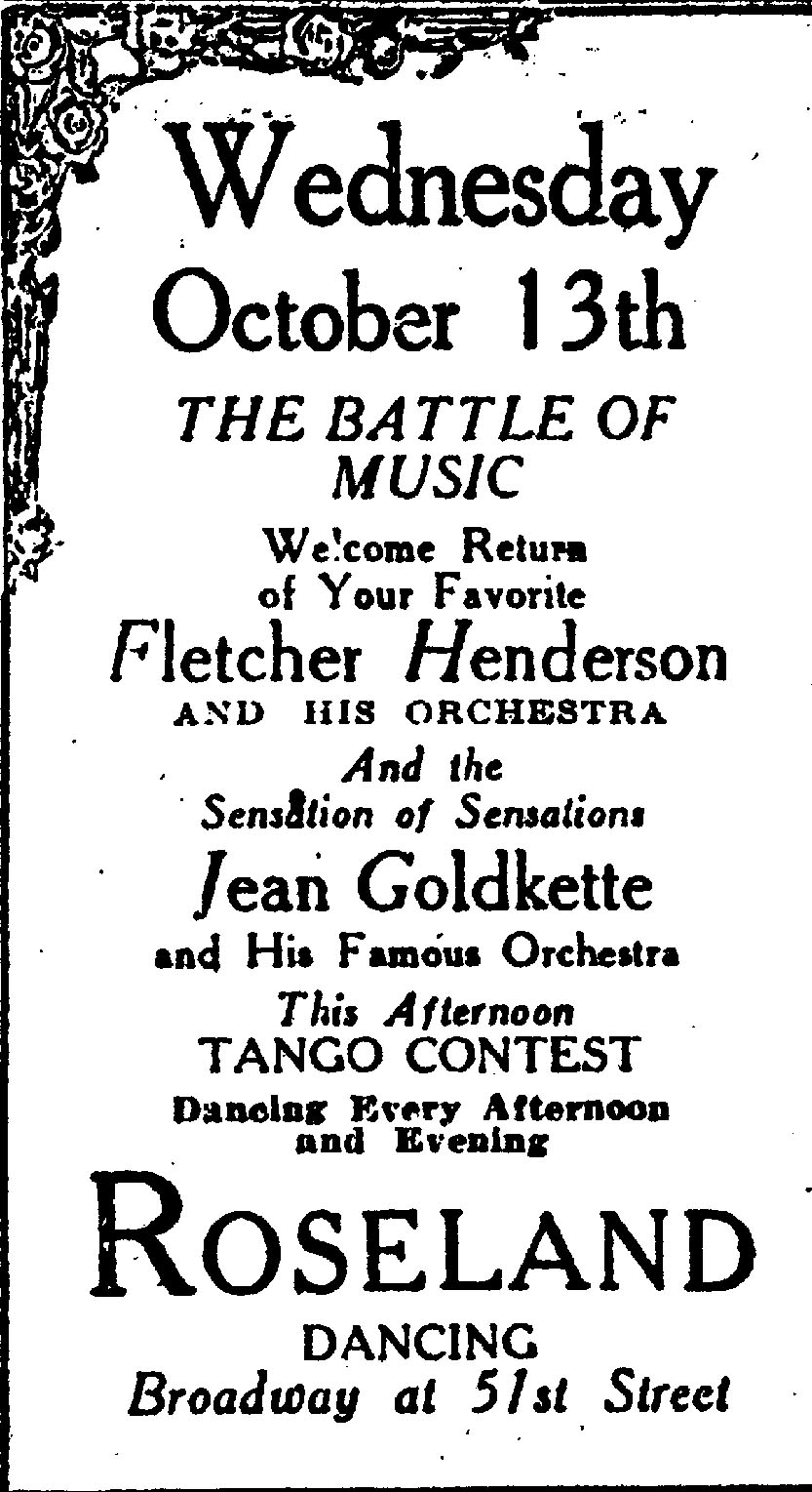 Battle of the Bands at Roseland, 1926