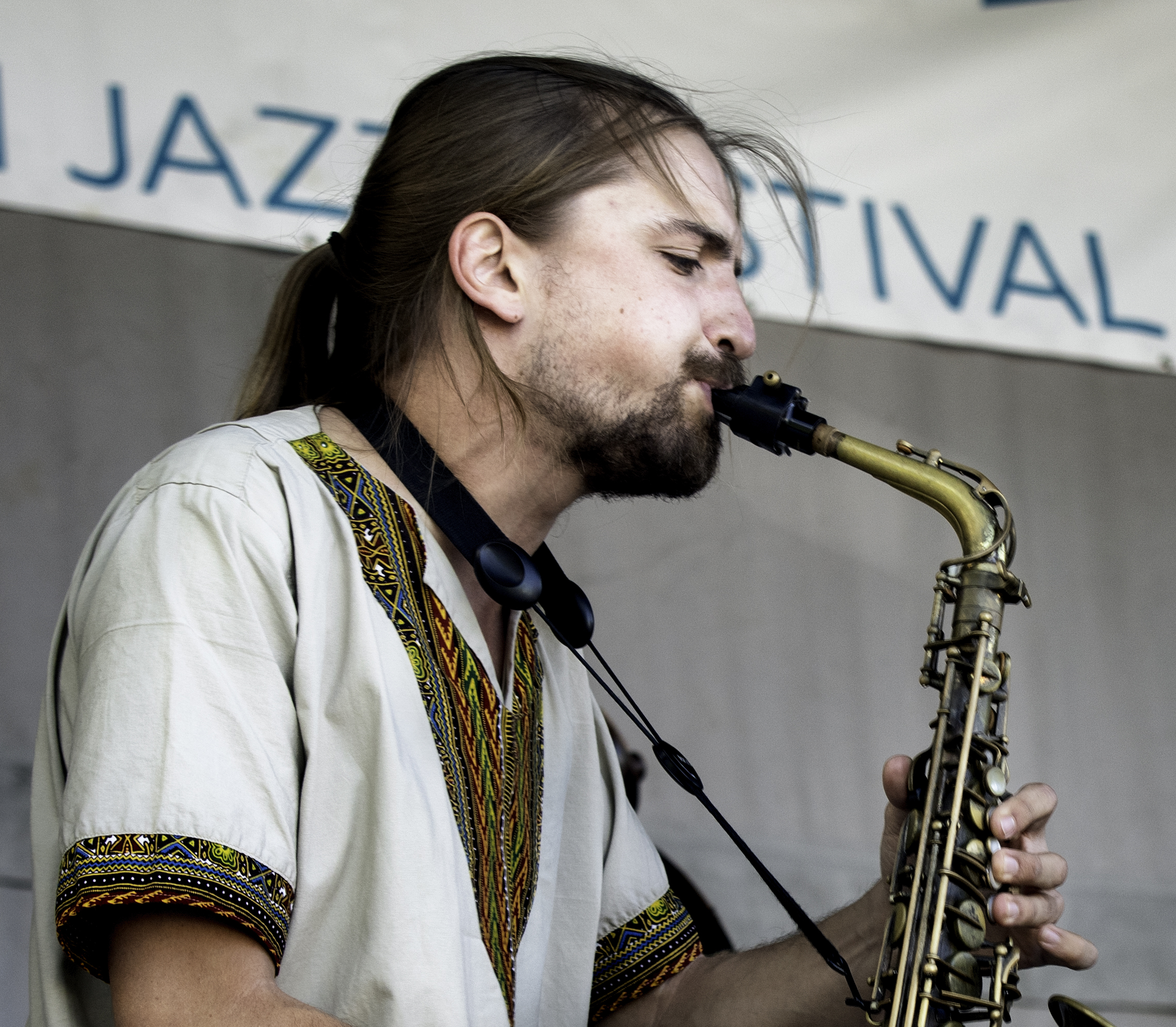 Aurélien Tomasi with the Eyevin Trio at the Guelph Jazz Festival 2019