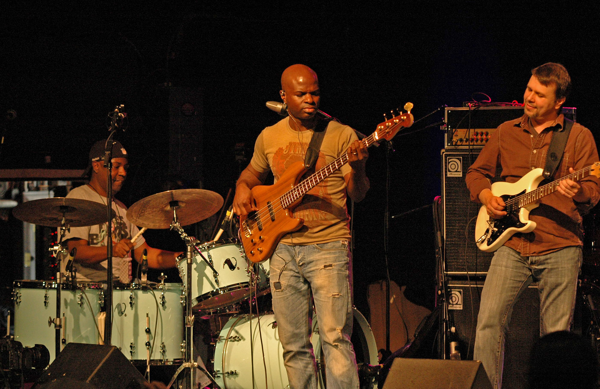 Lenny White, Riche Goods and Tom Guarna, Performing with Lenny White's Anomaly at the 2010 New Universe Music Festival