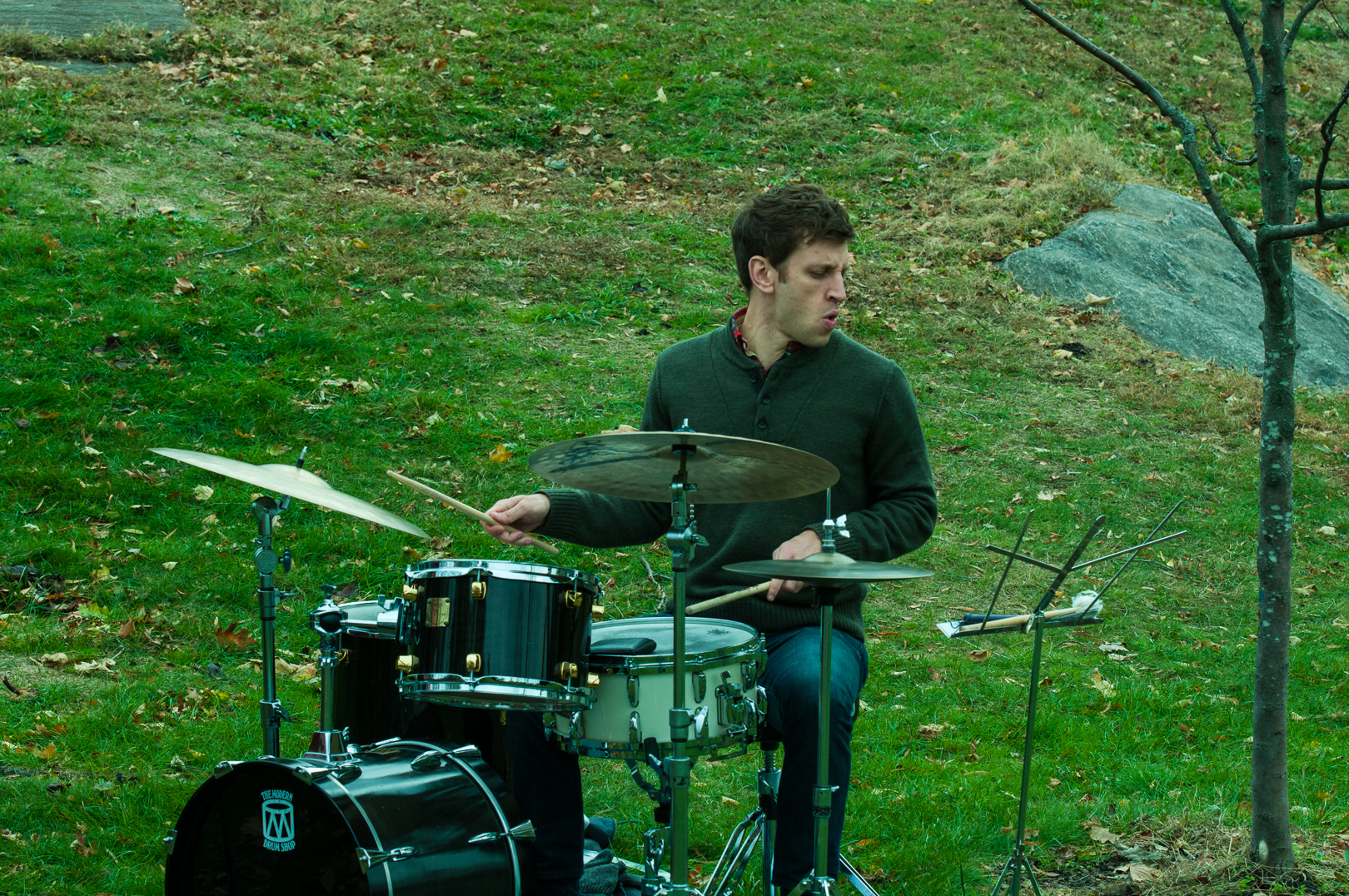 Eric Doob with Kevin Hays at Jazz and Colors in Central Park