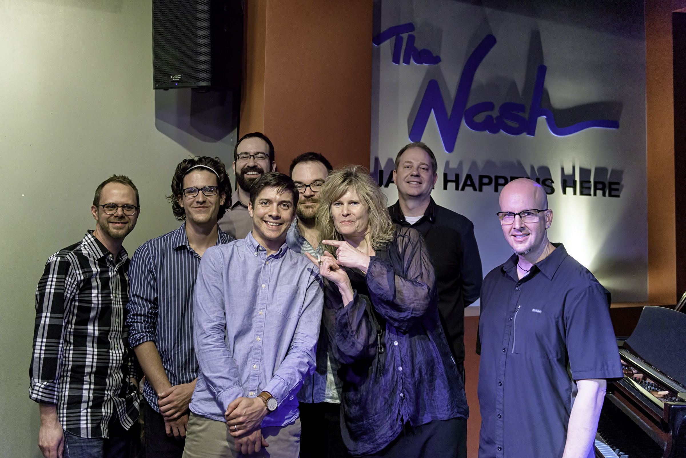 Ryan Anthony, Matt Williams, Jeff Libman, Will Goble, Keith Kelly, Mary Petrich, Eric Rasmussen And Steve Mcallister With Will Goble's Audiodrama Octet At The Nash.