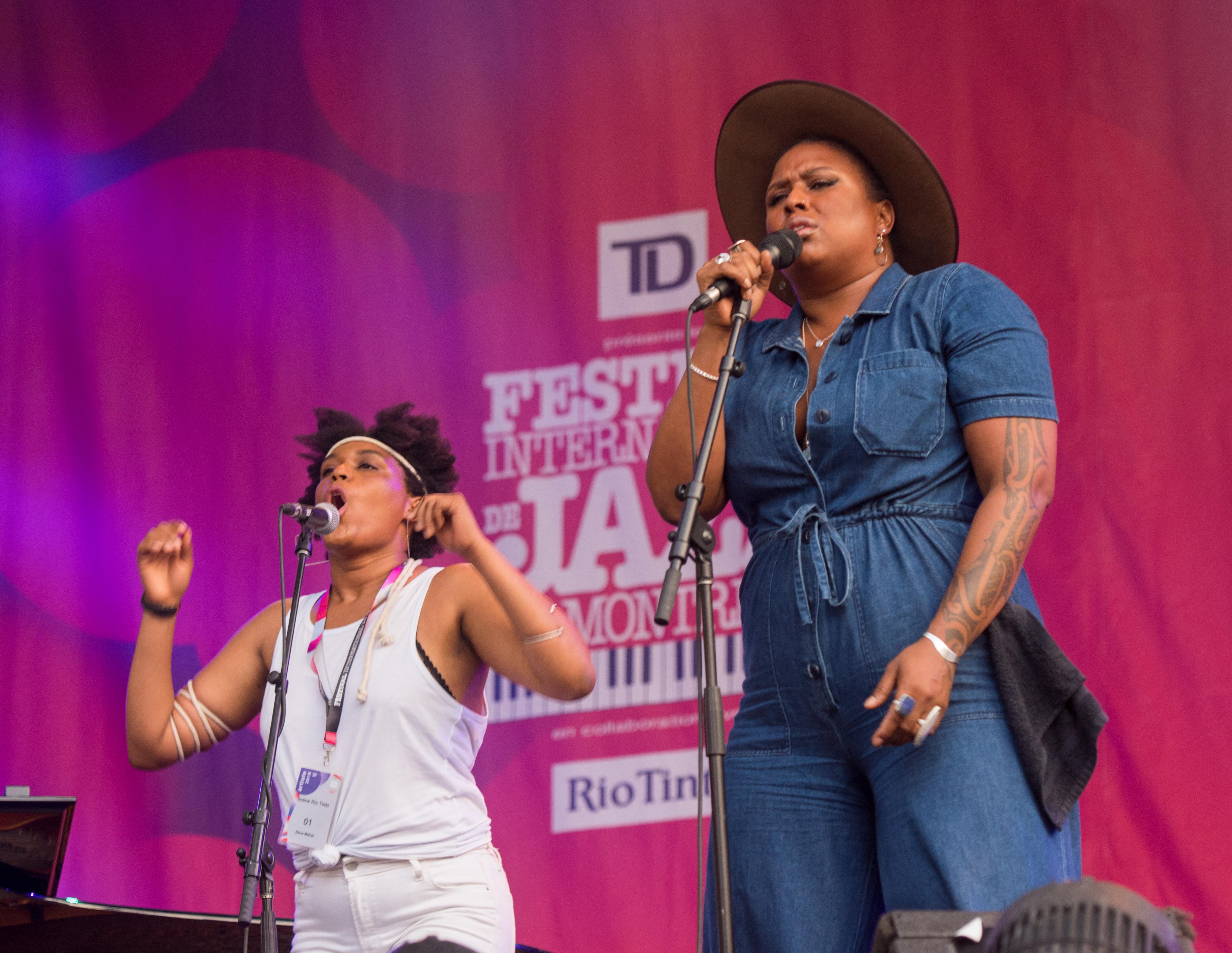Zoe Moon and Deva Mahal At The Montreal International Jazz Festival 2018