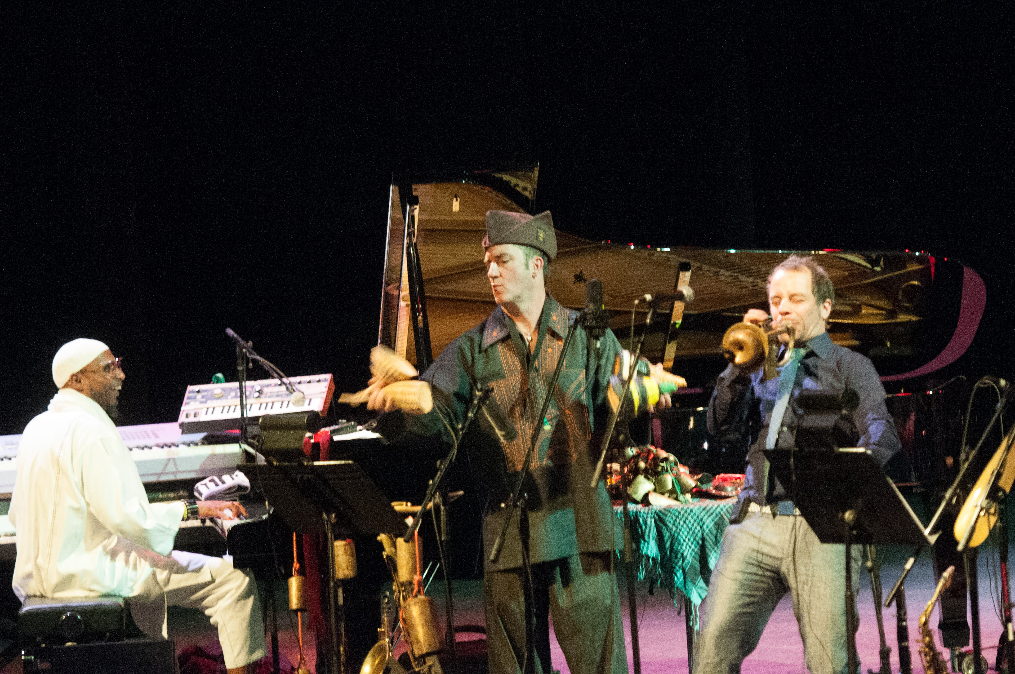 Omar sosa, peter apfelbaum and joo kraus and the afri-lectric experience at the tempe arts center
