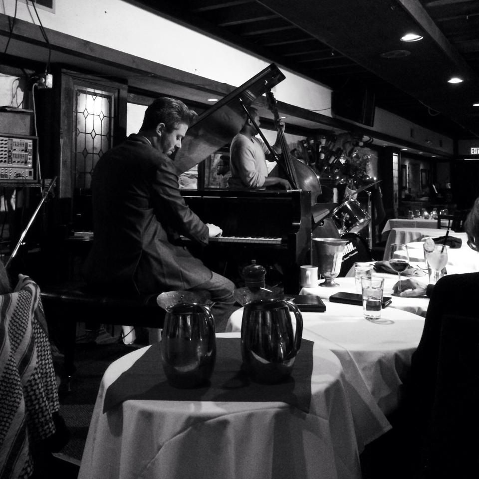 Mark Lowrey in the Jazz Club at the Majestic Restaurant
