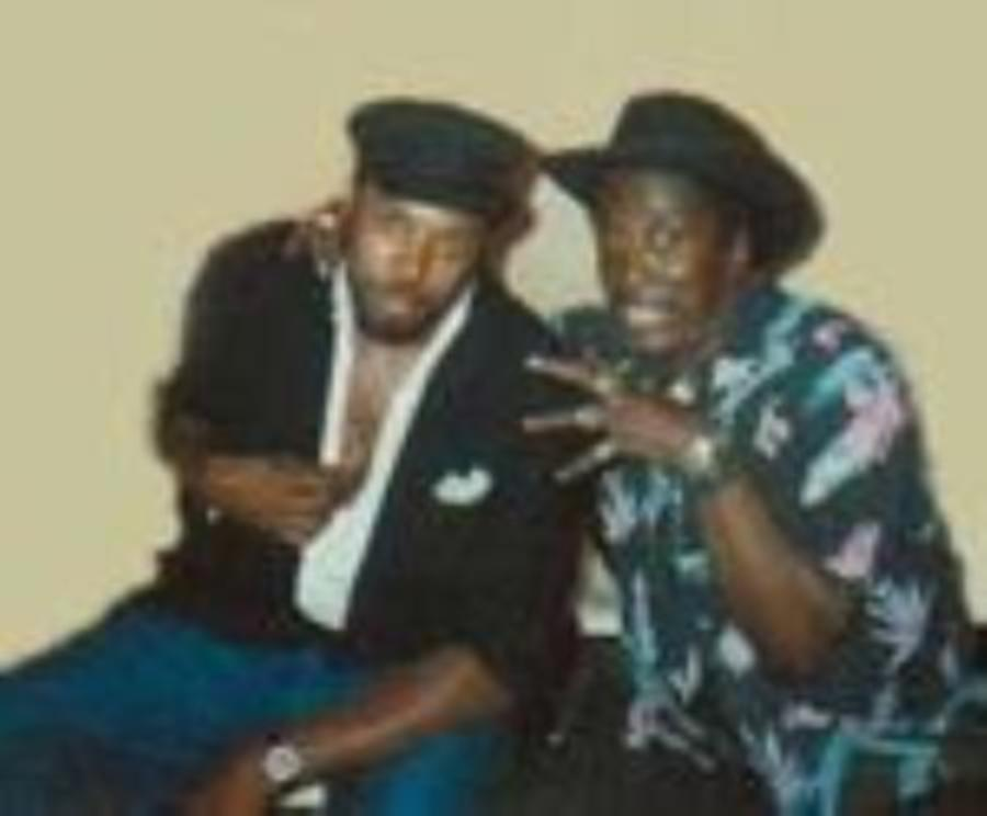 Screamin Jay & Gary Wiggins Backstage in Thessaloniki 1990