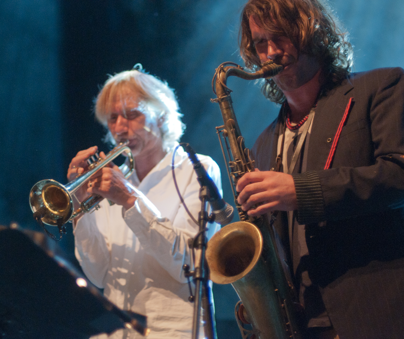 Erik Truffaz and Ilhan Ersahin with Bugge Wesseltoft at the Oslo Jazz Festival