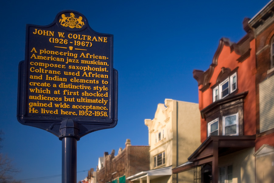 Pa State Historical Marker at the Coltrane House