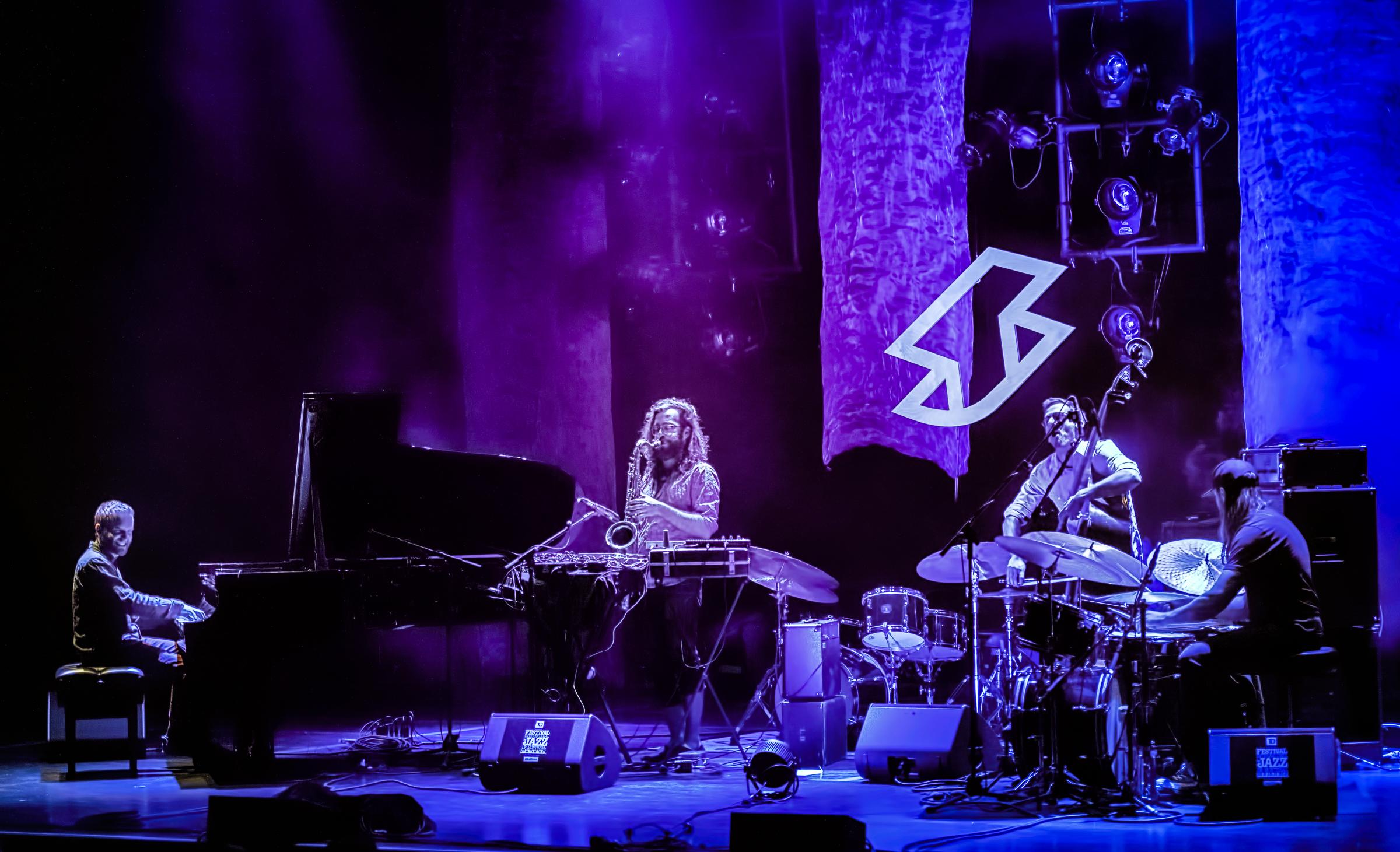 Arnaud Spick Saucier, Alex Dodier, Etienne Dextraze and Philippe Lussier Baillargeon with SHPIK at The Montreal International Jazz Festival 2018
