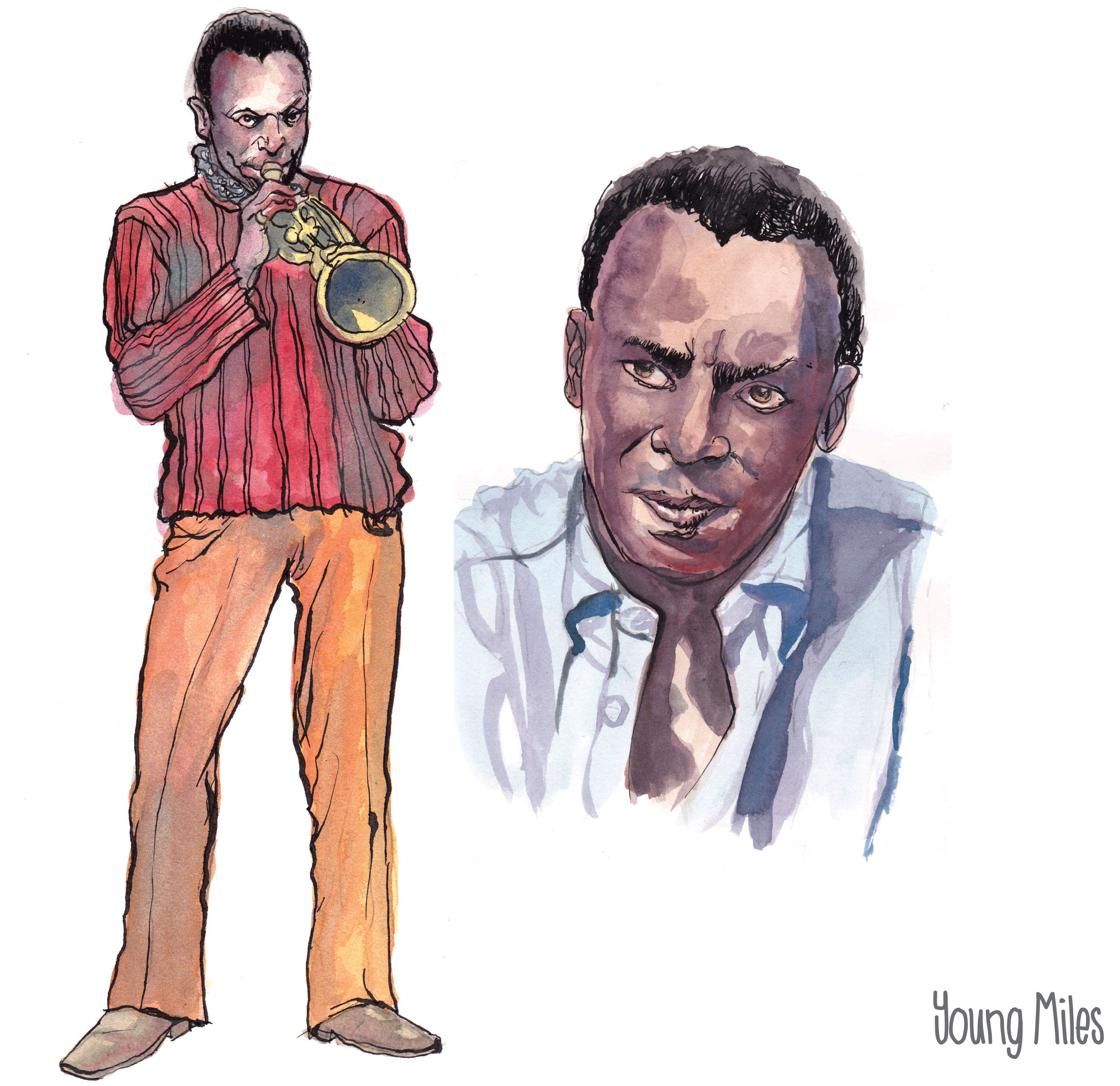 Miles Davis, Keith Henry Birth of The Cool character studies 1