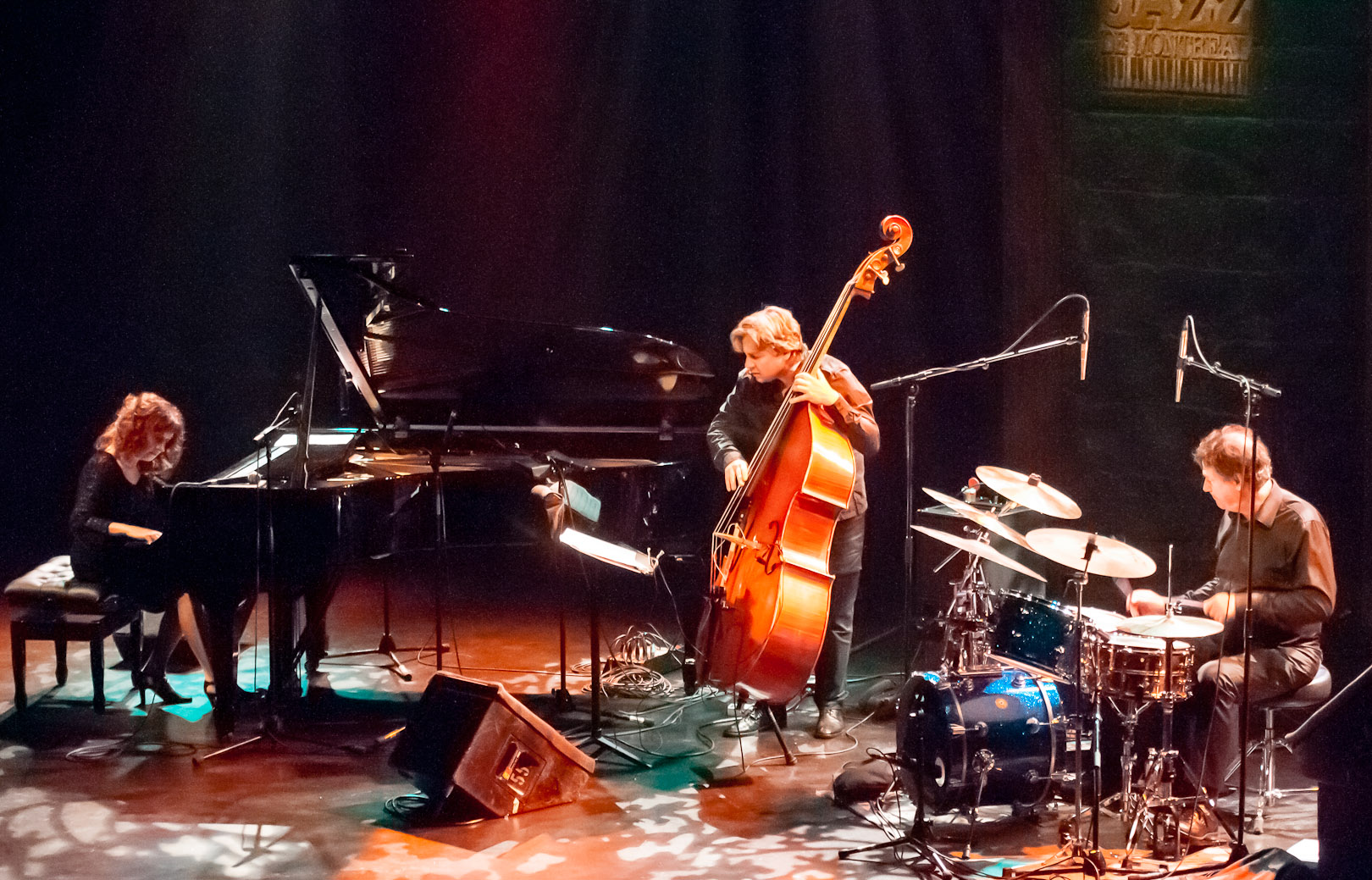 Lorraine Desmarais, Frederic Alarie and Camille Belisle at the Montreal International Jazz Festival 2012