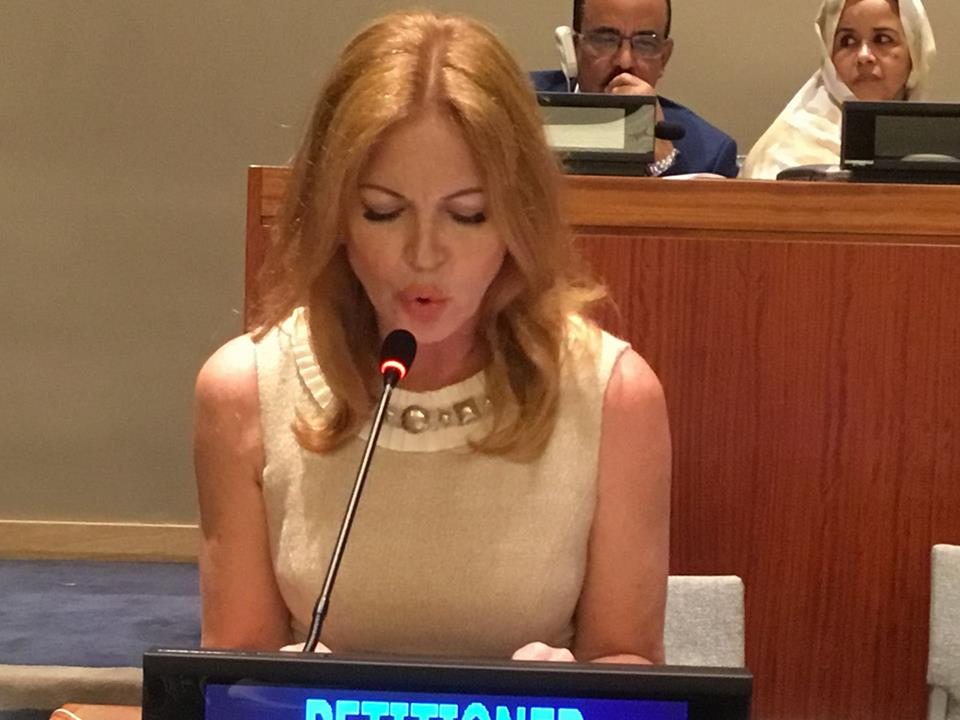 """Sultry """"Santa Baby"""" Singer, Actress and Humanitarian Cynthia Basinet Returns to Petition the United Nations."""