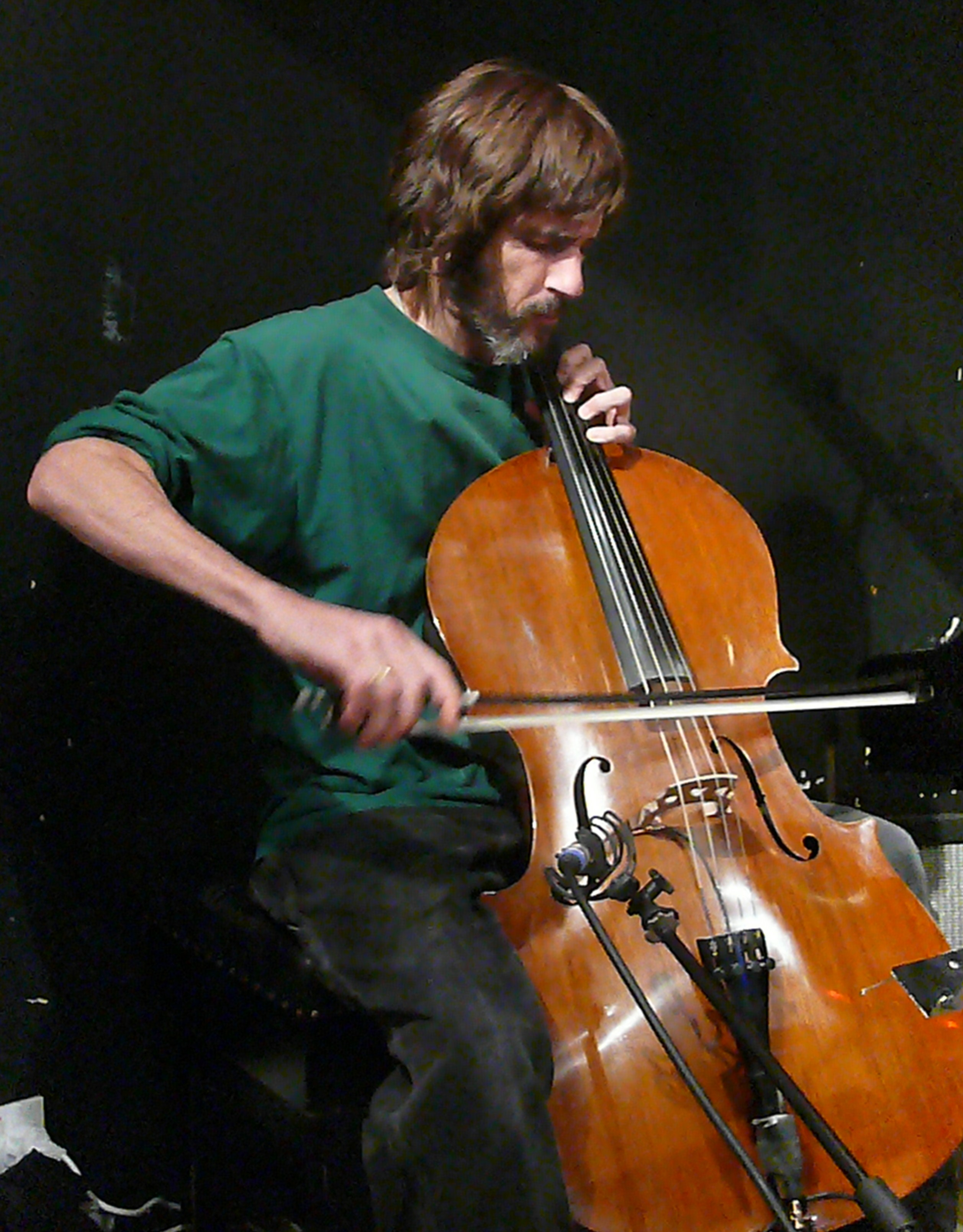 Fred Lonberg-Holm at the Vortex, London with the Vandermark 5