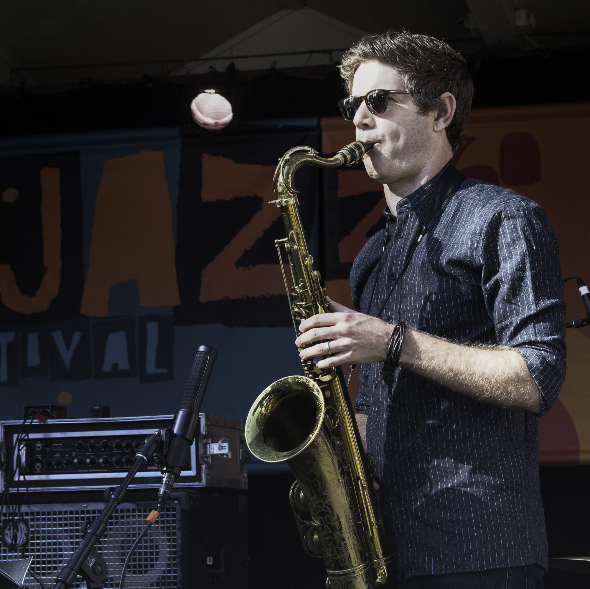 Ben Wendel with the Linda May Han Oh Quintet at the Monterey Jazz Festival