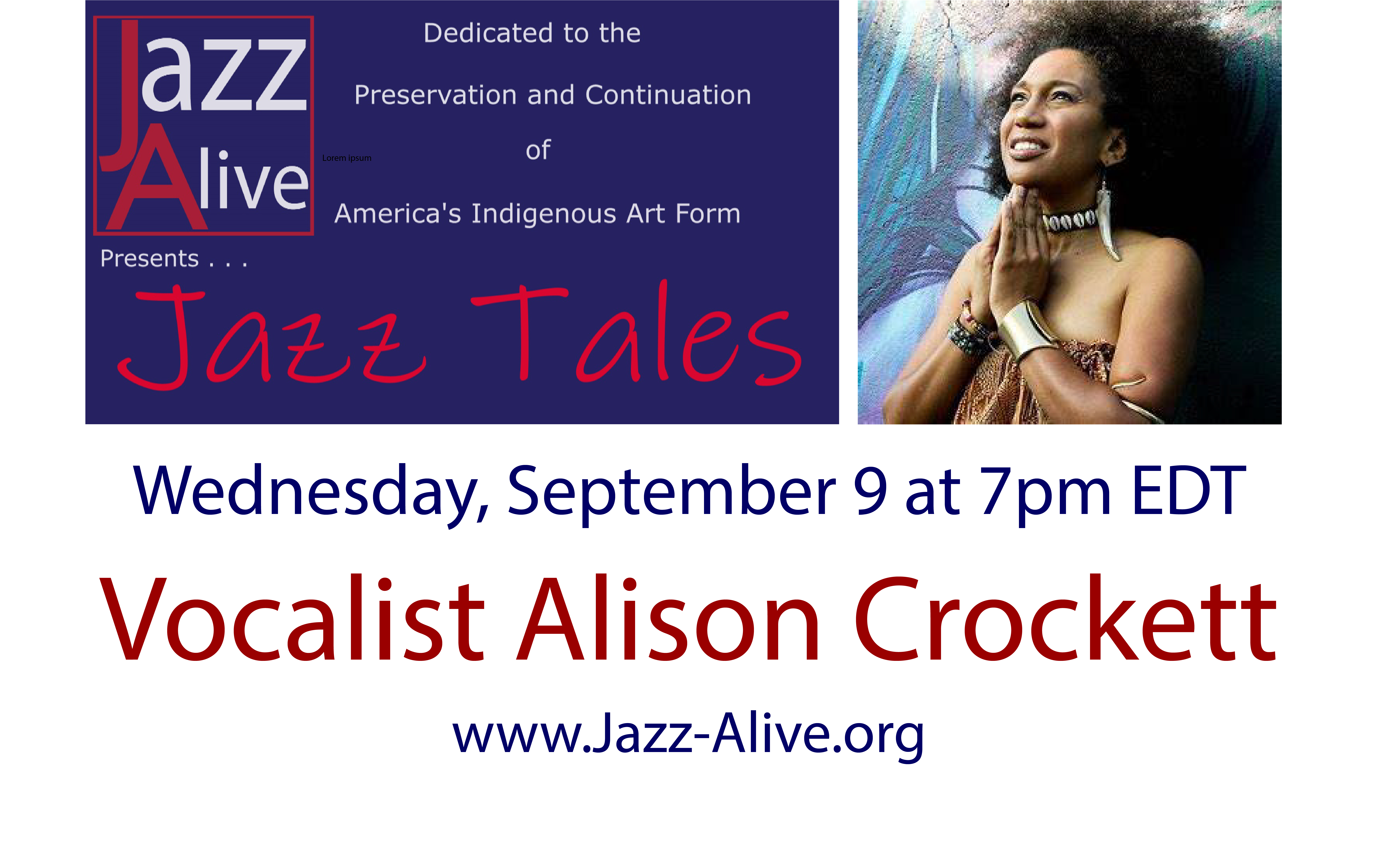 Jazz Tales With Vocalist Alison Crockett