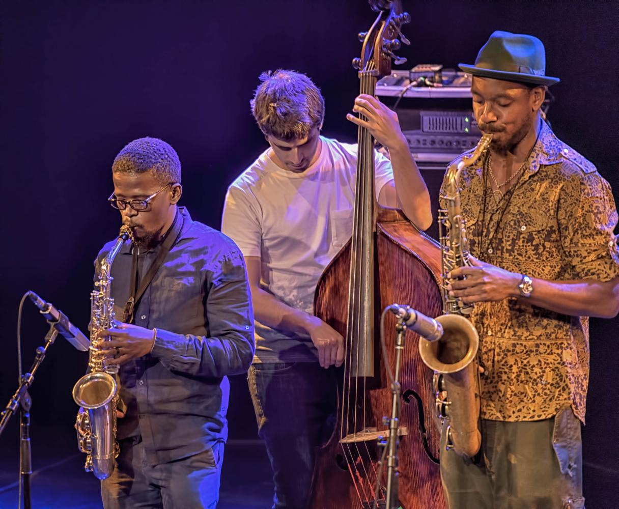 Mthunzi Mvubu, Ariel Zamonsky and Shabaka Hutchings with Shabaka and the Ancestors at The Montreal International Jazz Festival 2017
