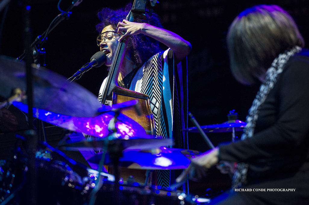Esperanza Spalding and Terri Lyne Carrington at the 2017 Detroit Jazz Festival