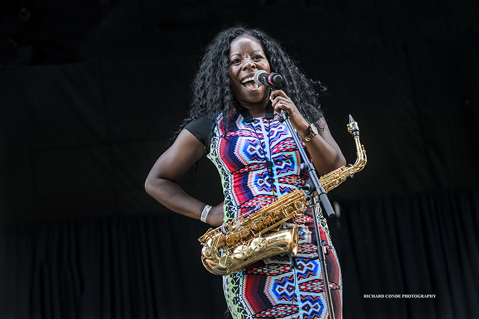 Tia Fuller at the 2017 Charlie Parker Jazz Festival