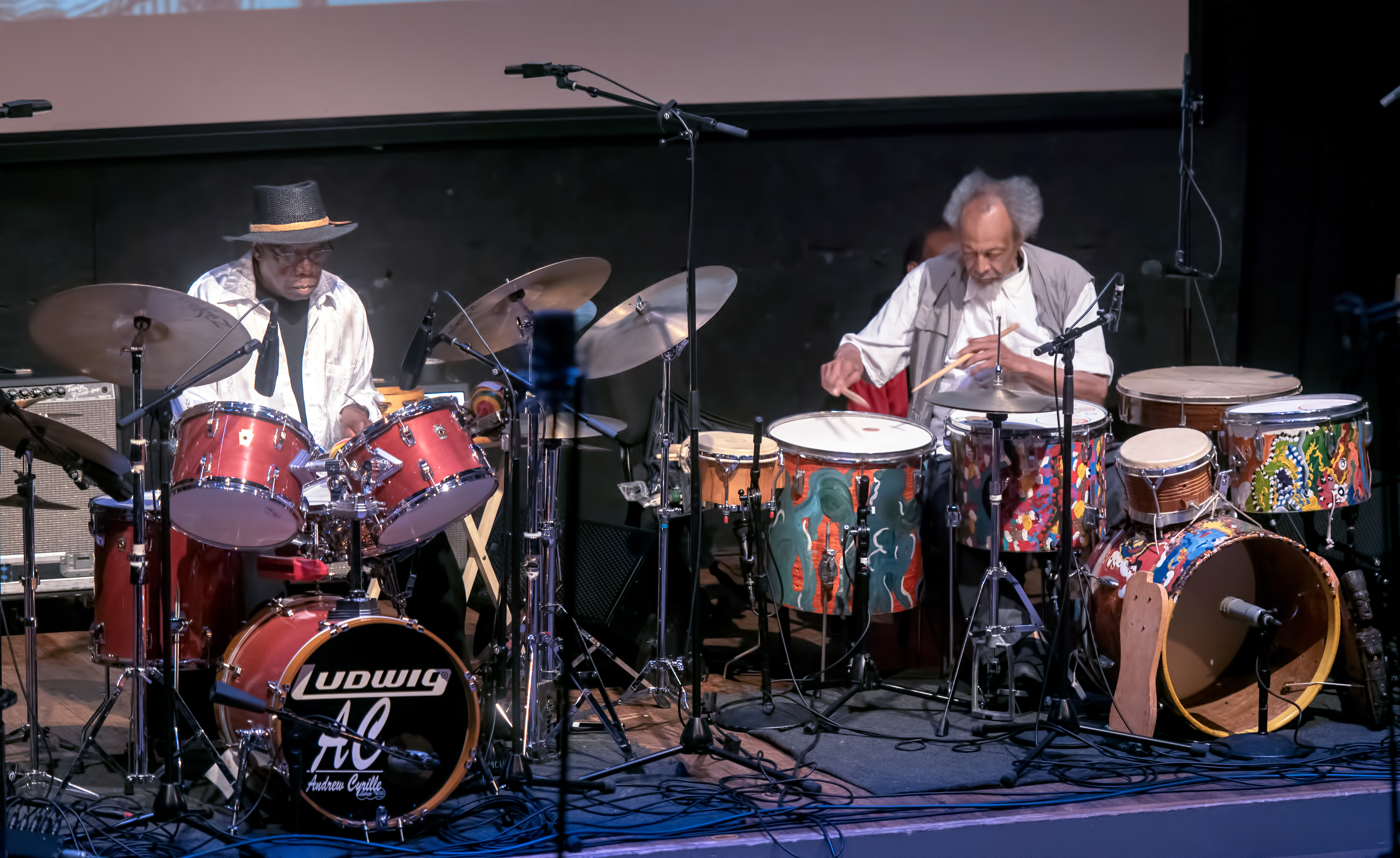 Andrew Cyrille and Milford Graves At the Vision Festival 2019