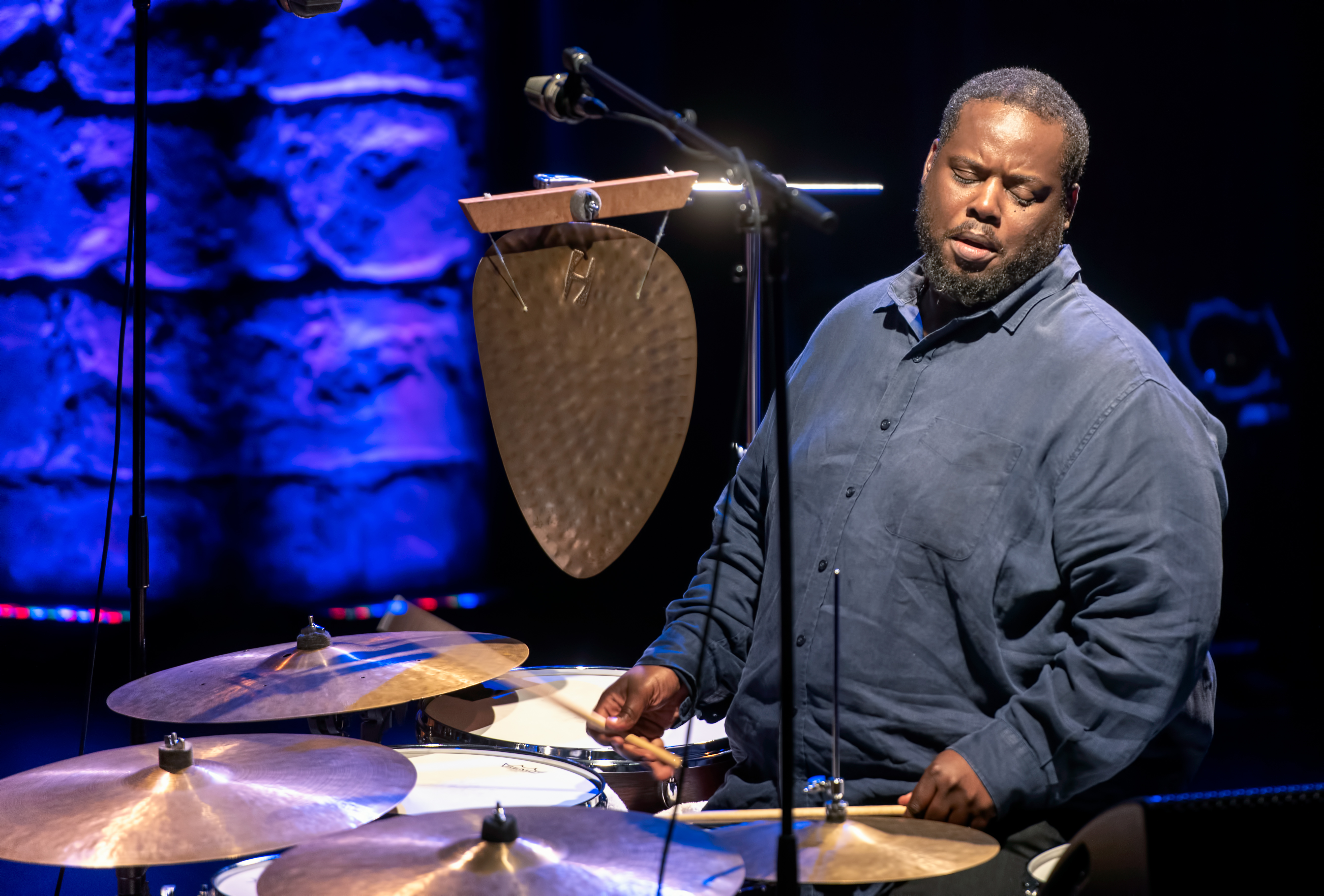 Johnathan Blake With The Dr. Lonnie Smith Trio At The Montreal International Jazz Festival 2018