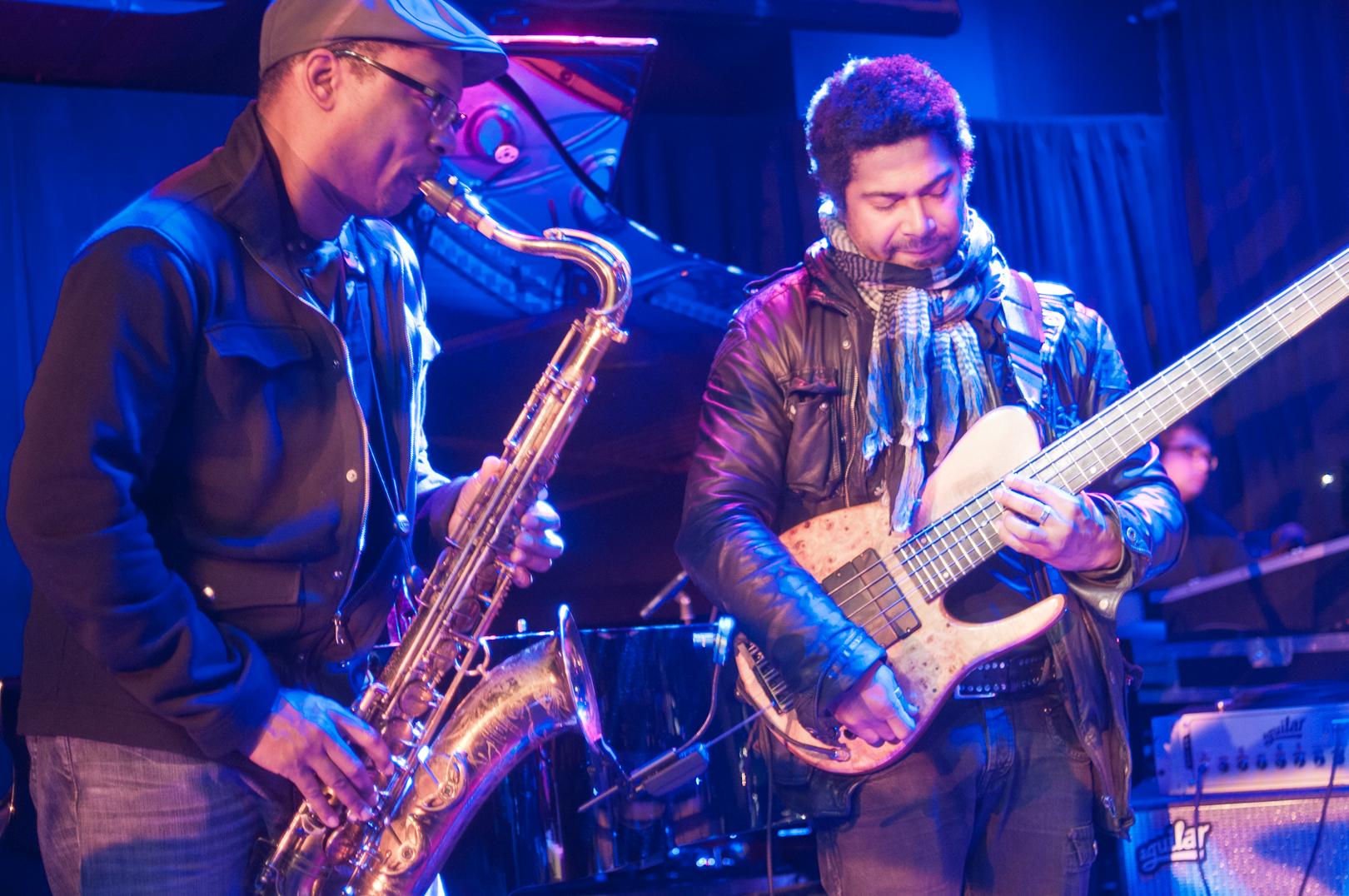 Ravi Coltrane and Matt Garrison at the Winter Jazzfest 2012