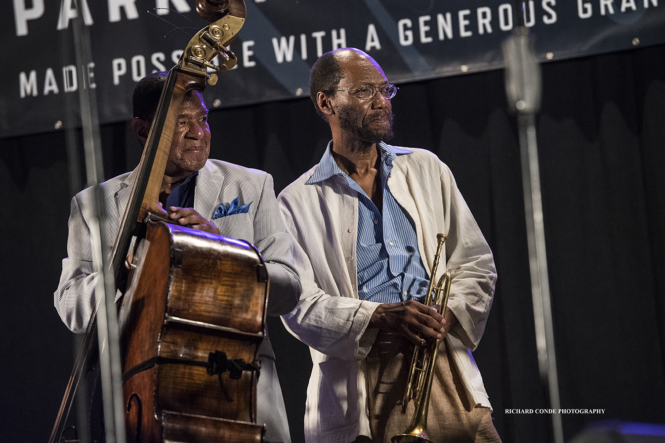 Buster Williams and Charles Tolliver at the 2018 Charlie Parker Jazz Festival
