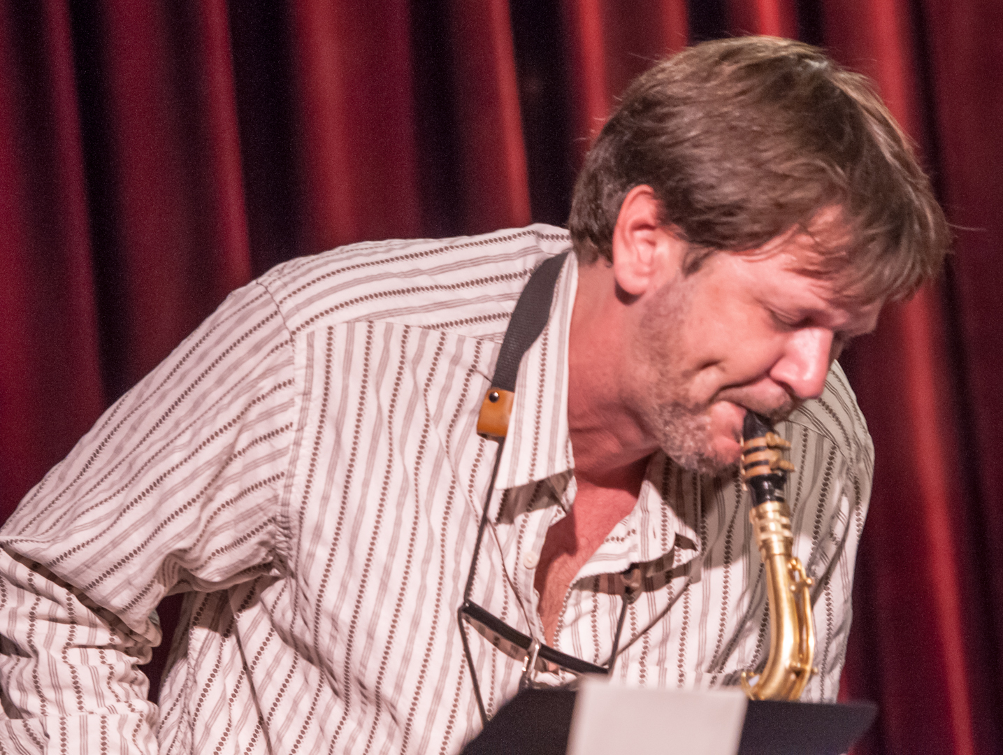 Jim Hobbs with the Taylor Ho Bynum Septet at the Jazz Gallery