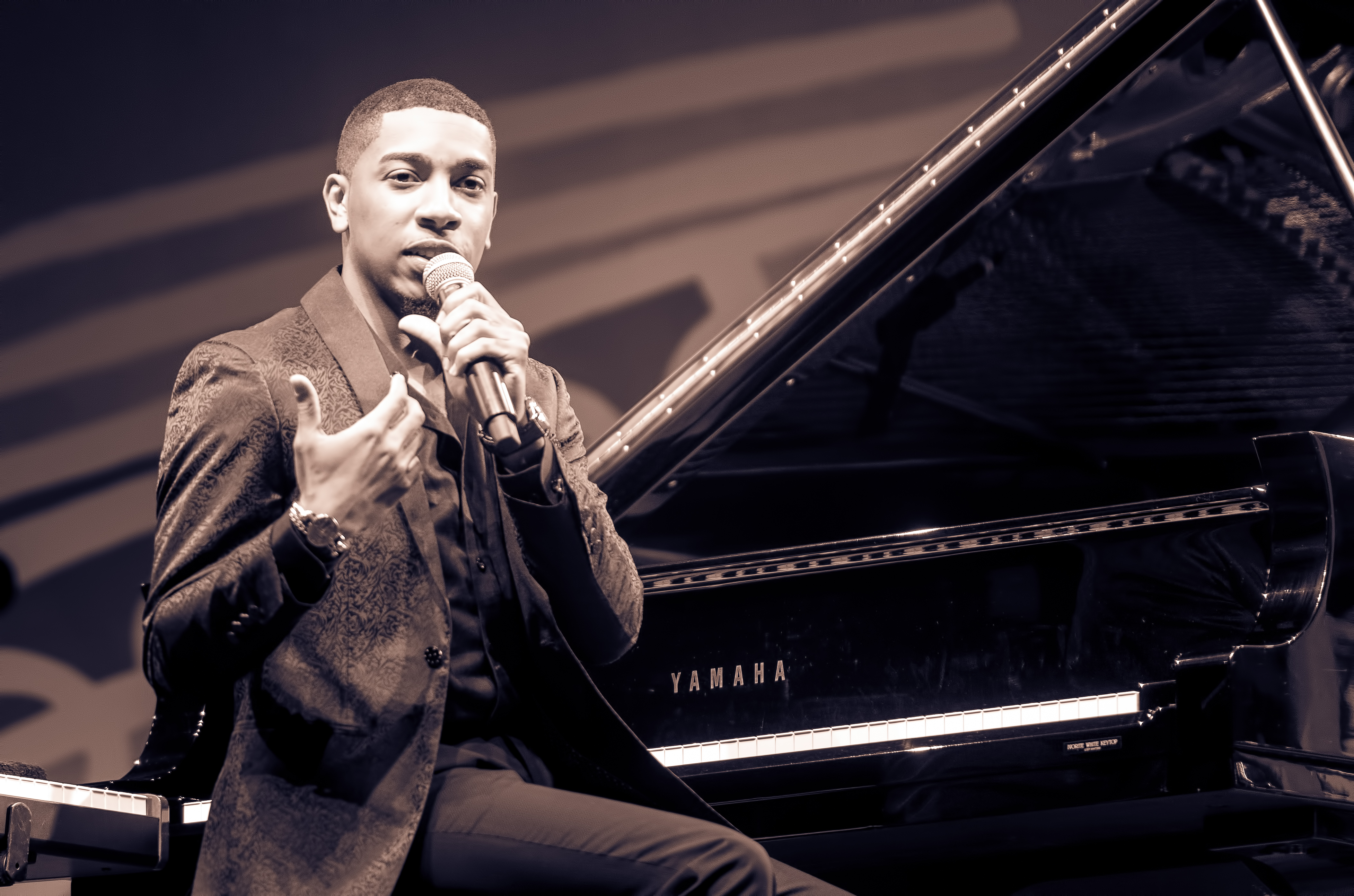 Christian Sands with MJF on Tour 60th Anniversary Edition at the Monterey Jazz Festival 2018