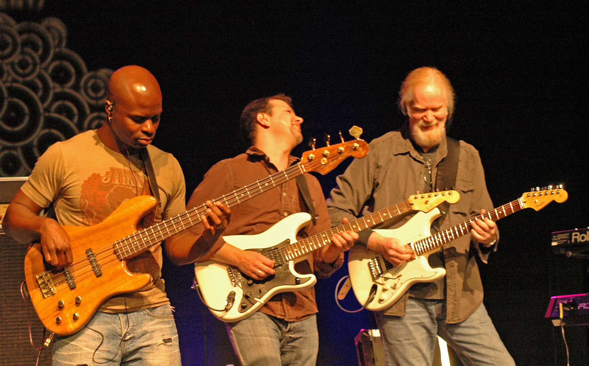 Richie Goods, Tom Guarna and Jimmy Herring, Performing with Lenny White's Anomaly at the 2010 New Universe Music Festival