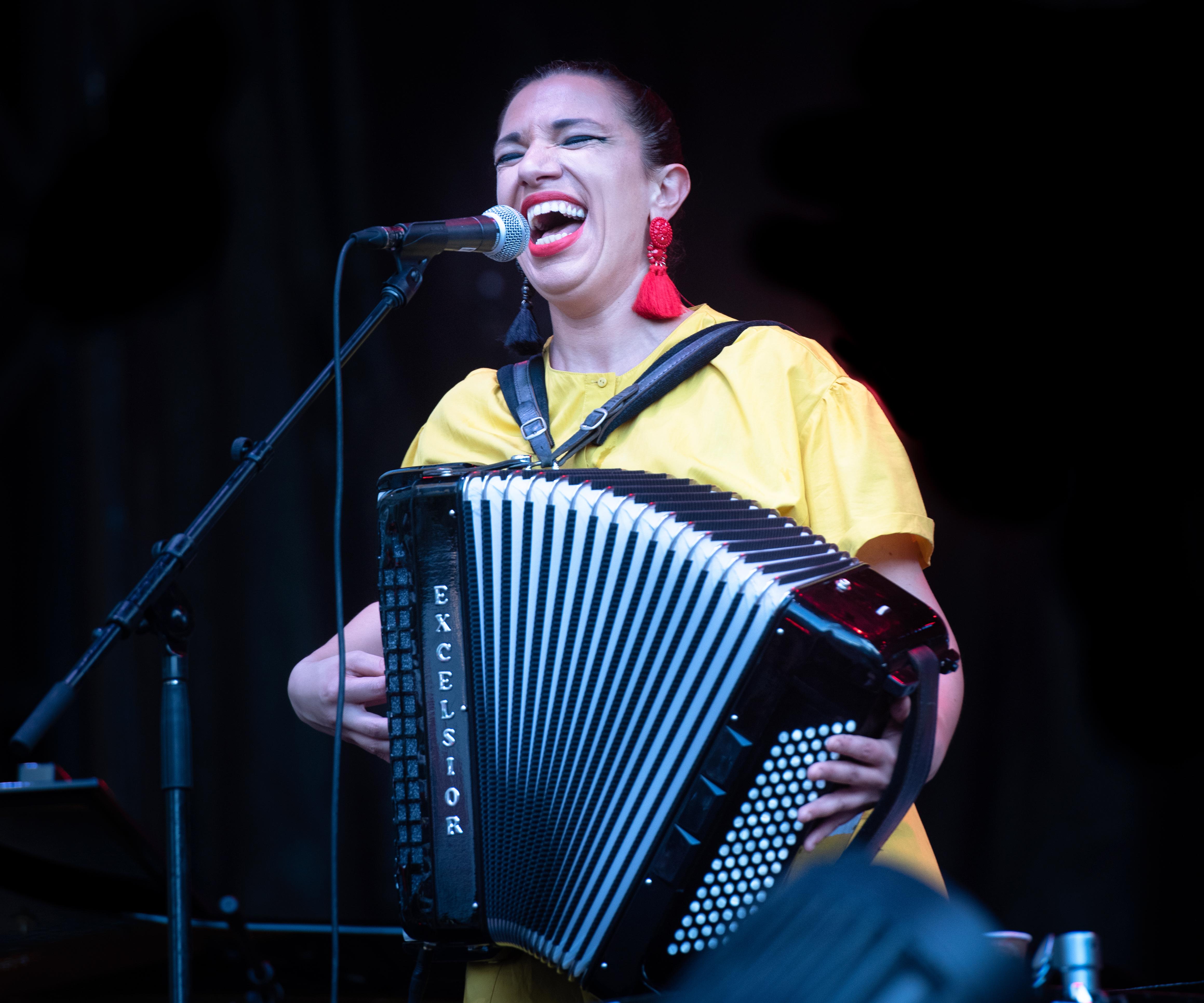 Magda Giannikou With Banda Magda At The Montreal International Jazz Festival 2018