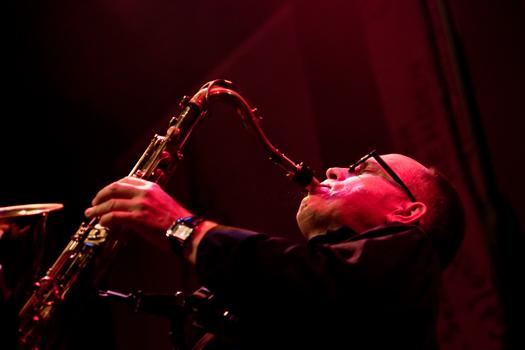 Alfred Harth of Otomo Yoshihide's New Jazz Ensamble - Gdansk in May 2005