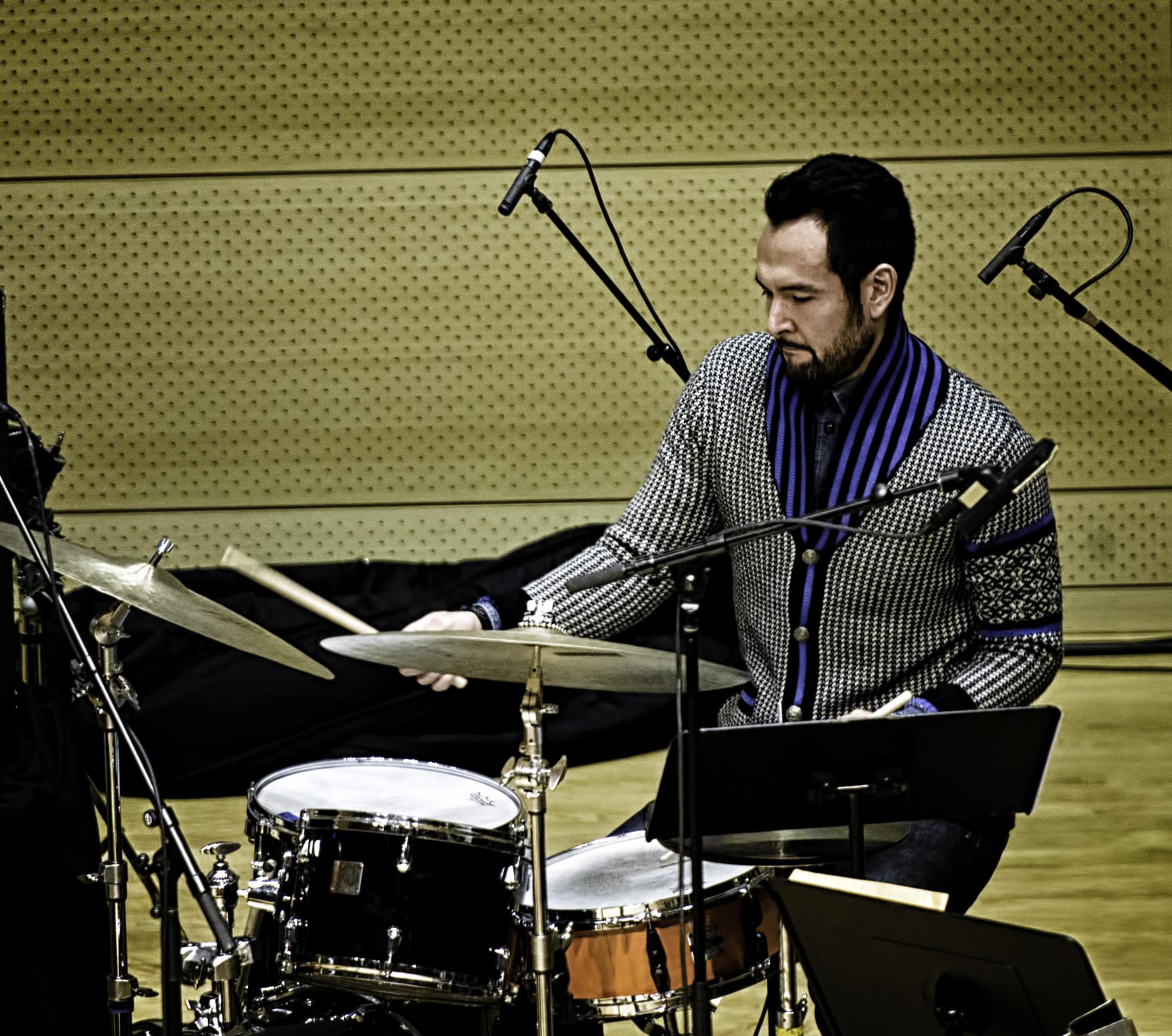 Tomas Fujiwara with Michael Formanek's Ensemble Kolossus At The NYC Winter Jazzfest 2016