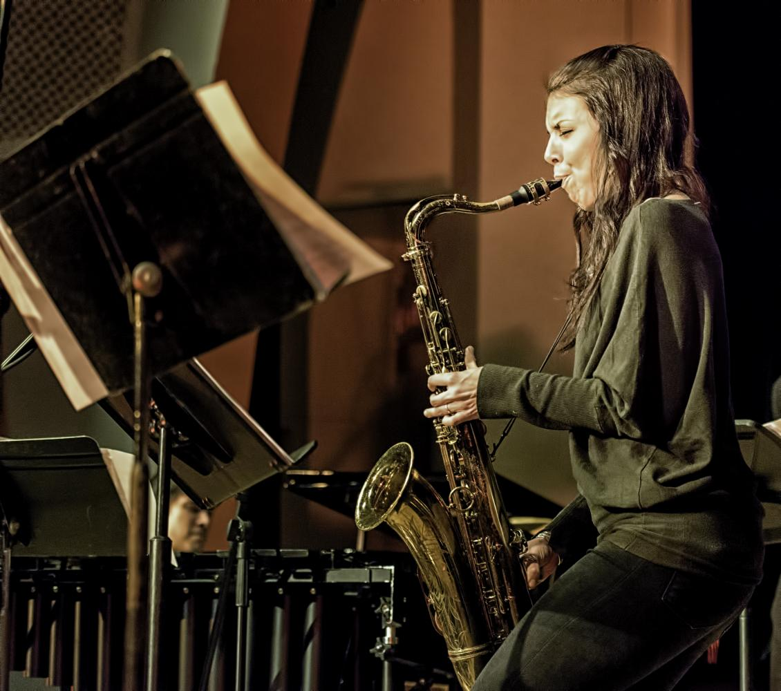 Melissa Aldana at The NYC Winter Jazzfest 2017