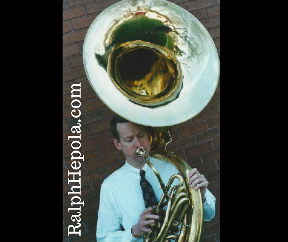 Ralph Hepola on Sousaphone