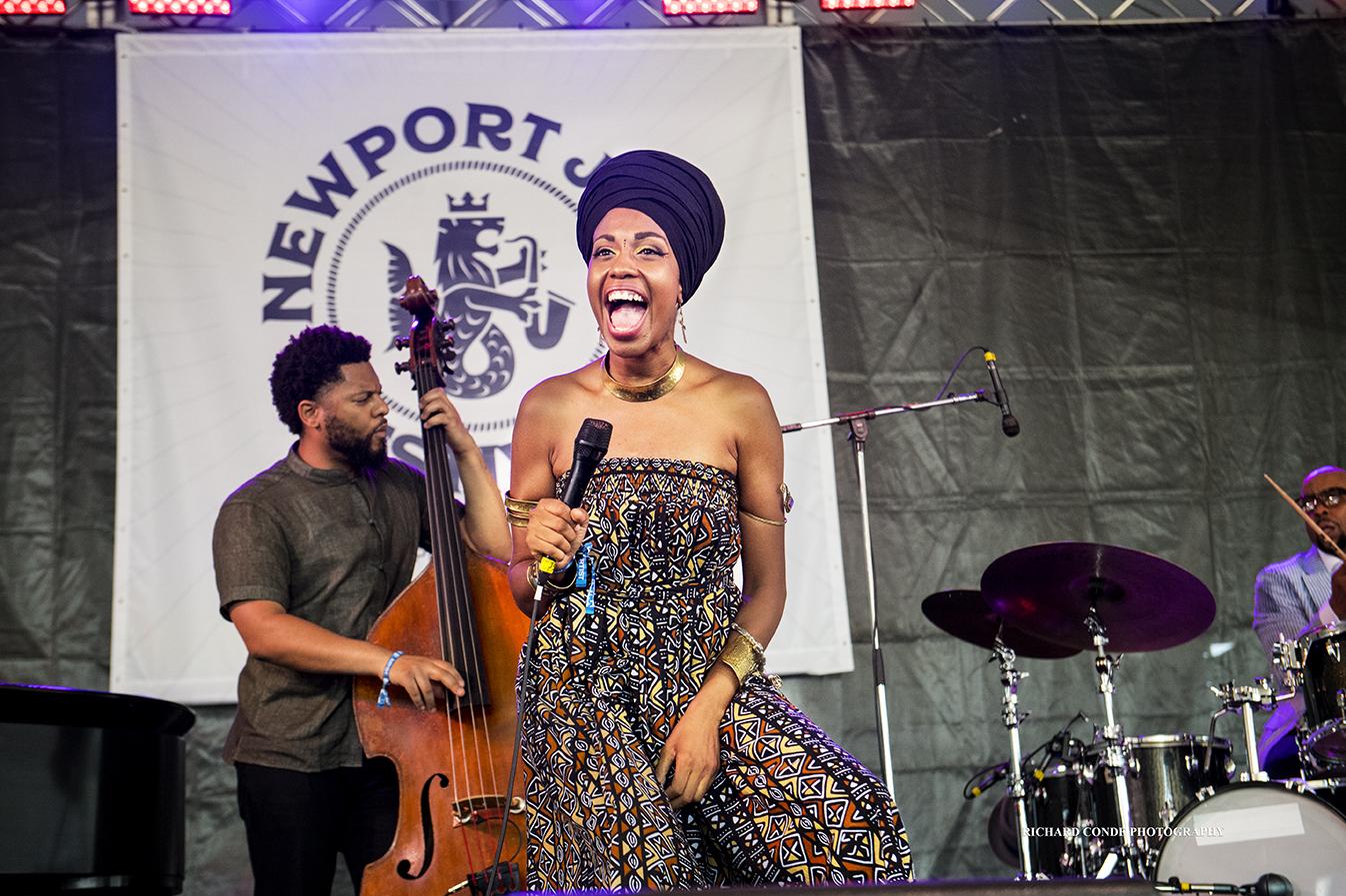 Jazzmeia Horn at the 2018 Newport Jazz Festival