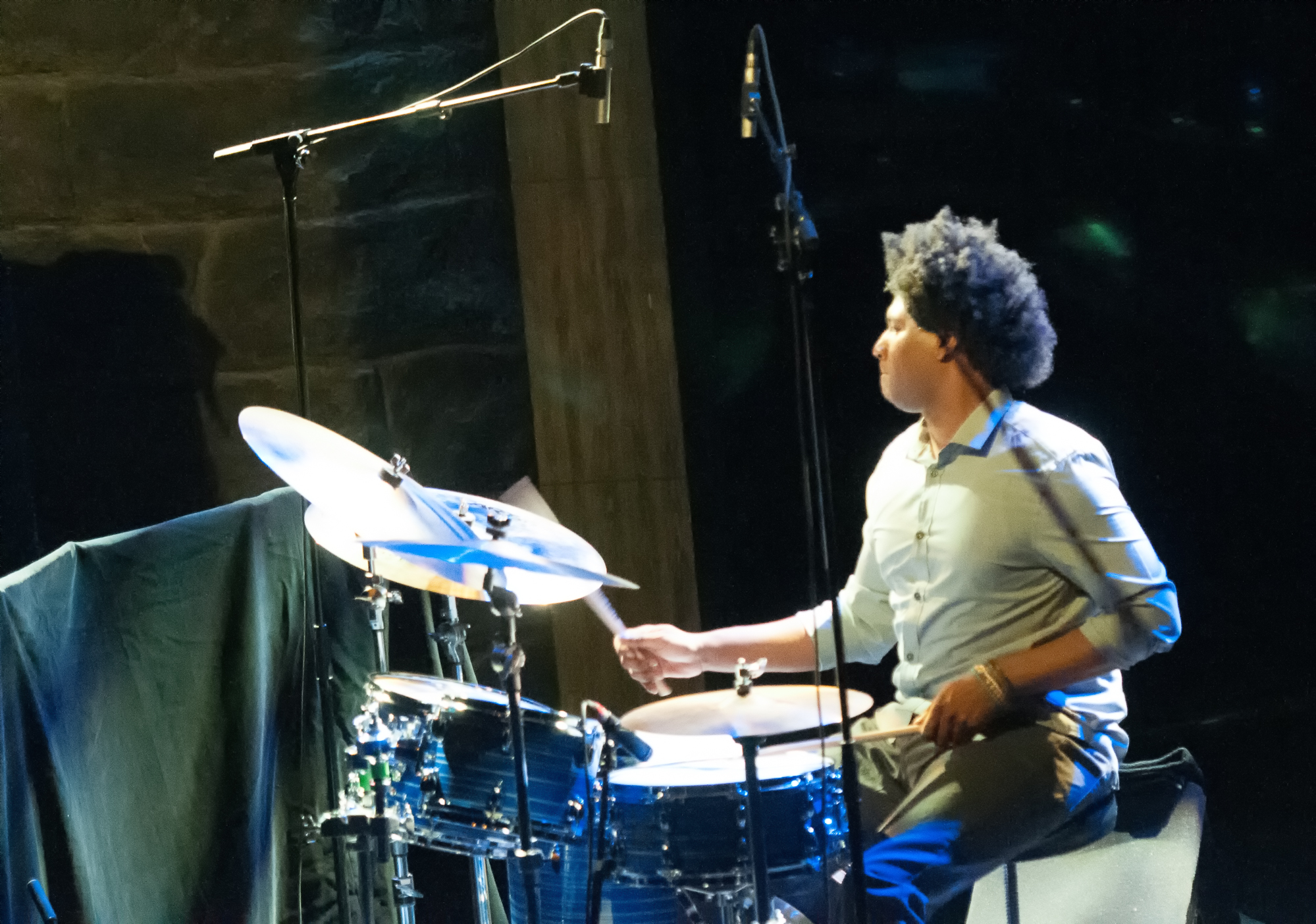 Justin brown with the vijay iyer trio at the montreal international jazz festival 2013