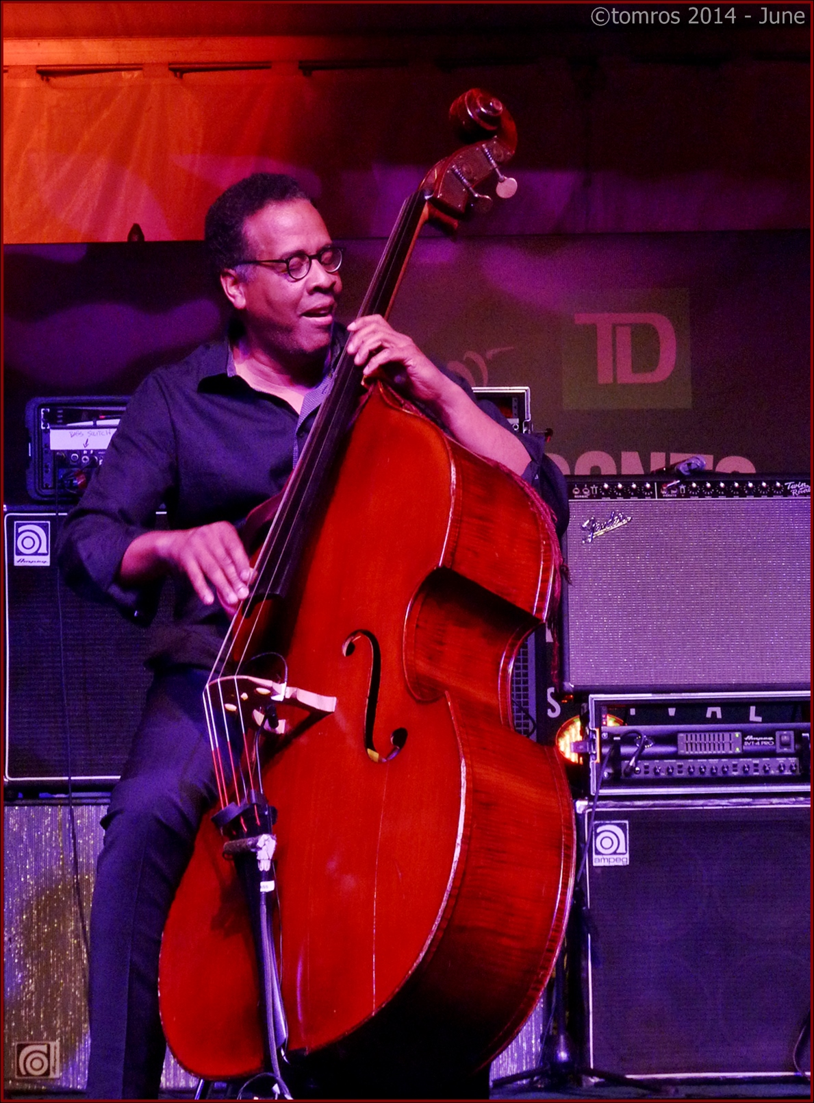 Stanley Clarke trio at Toronto Jazz Festival, June 26, 2014.