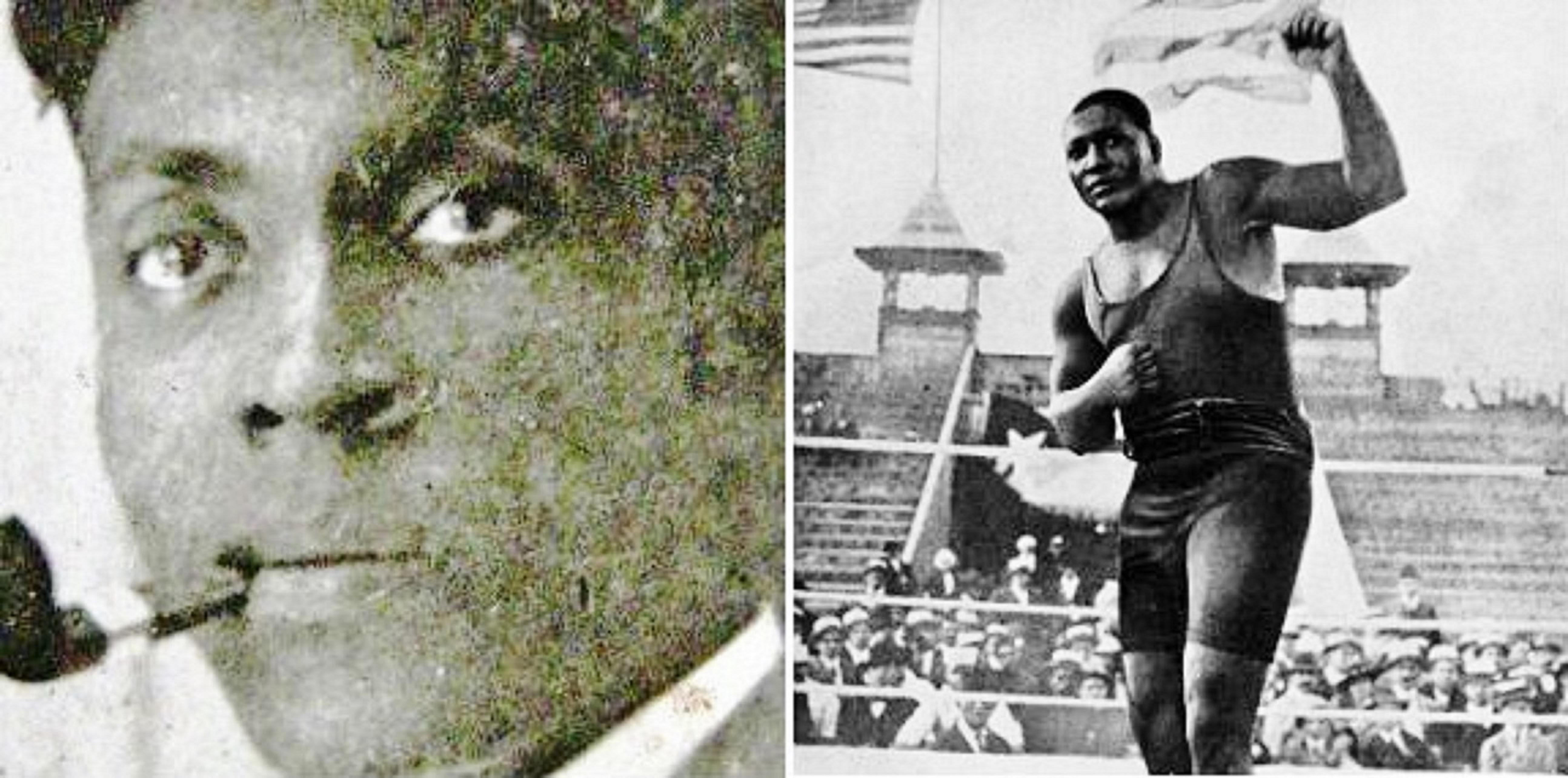 Frederick Thomas and Boxer Jack Johnson