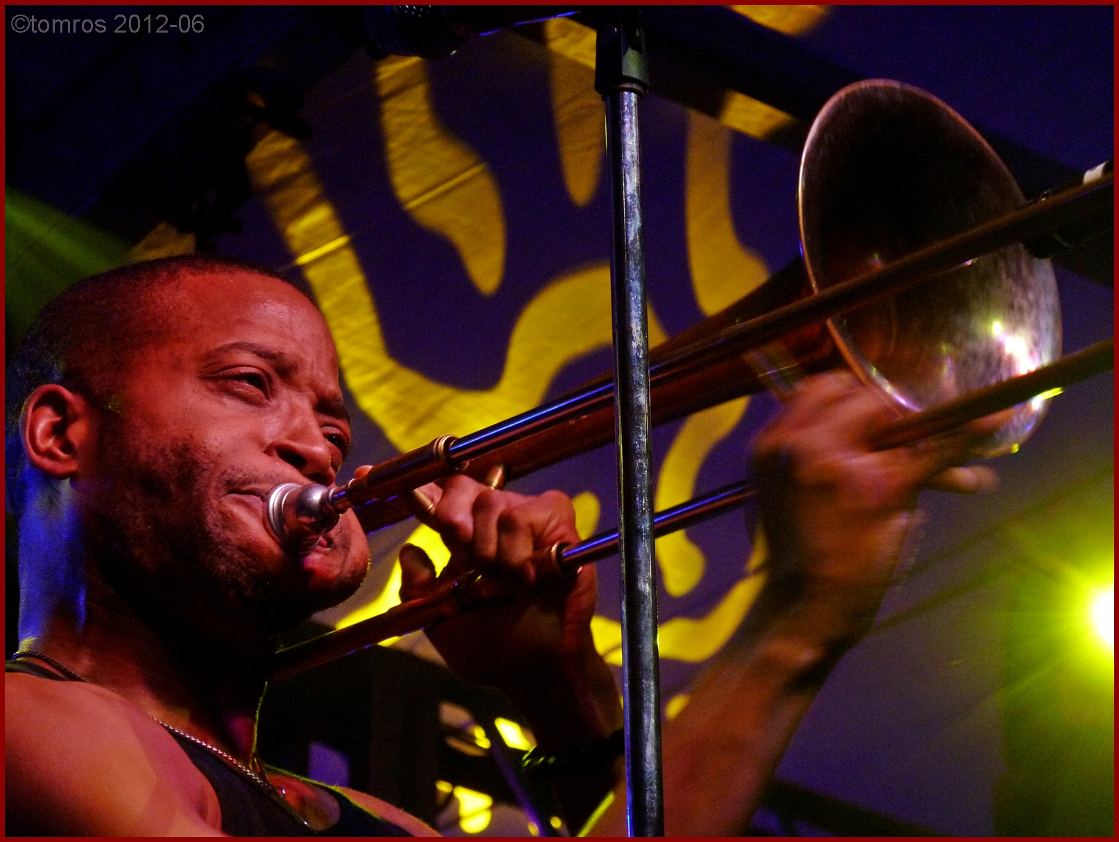 Trombone Shorty at Nathan Phillips Square in Toronto