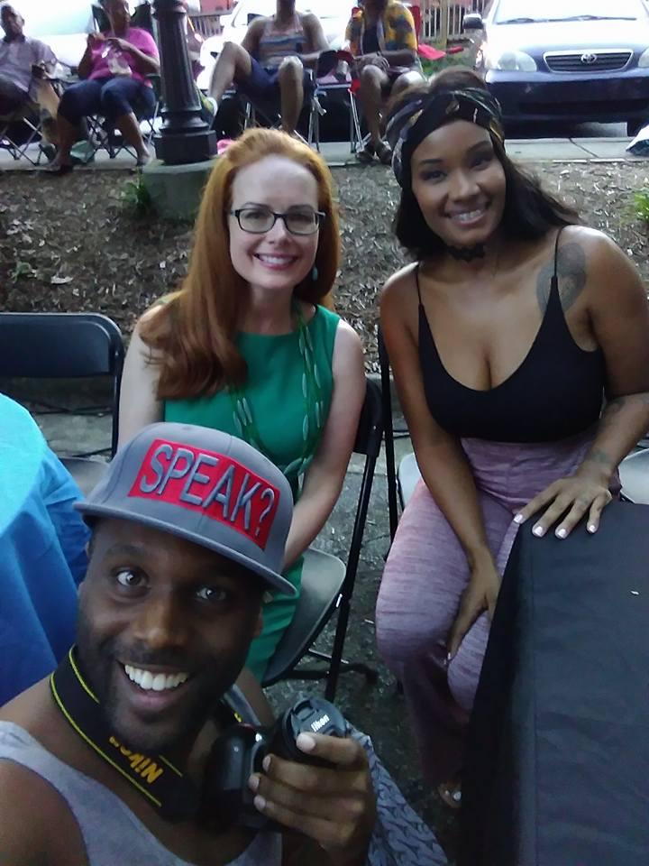 Laura Coyle, Mylah, and Jermaine Sain
